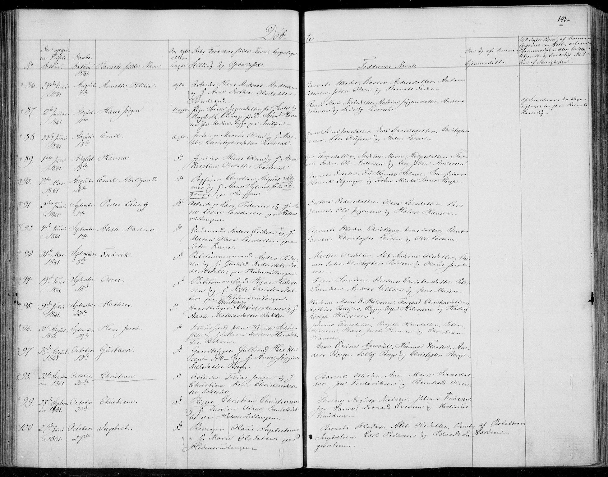 SAKO, Skoger kirkebøker, F/Fa/L0003: Ministerialbok nr. I 3, 1842-1861, s. 143