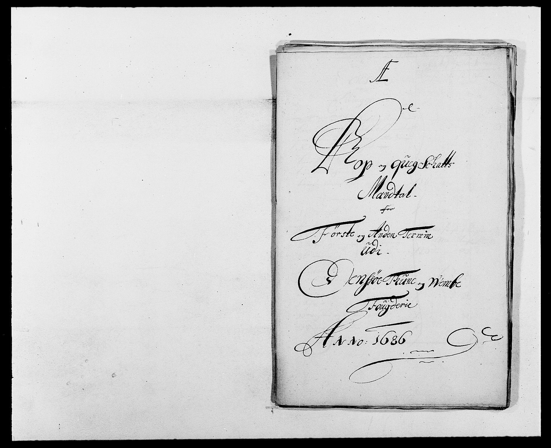 RA, Rentekammeret inntil 1814, Reviderte regnskaper, Fogderegnskap, R03/L0116: Fogderegnskap Onsøy, Tune, Veme og Åbygge fogderi, 1684-1689, s. 306