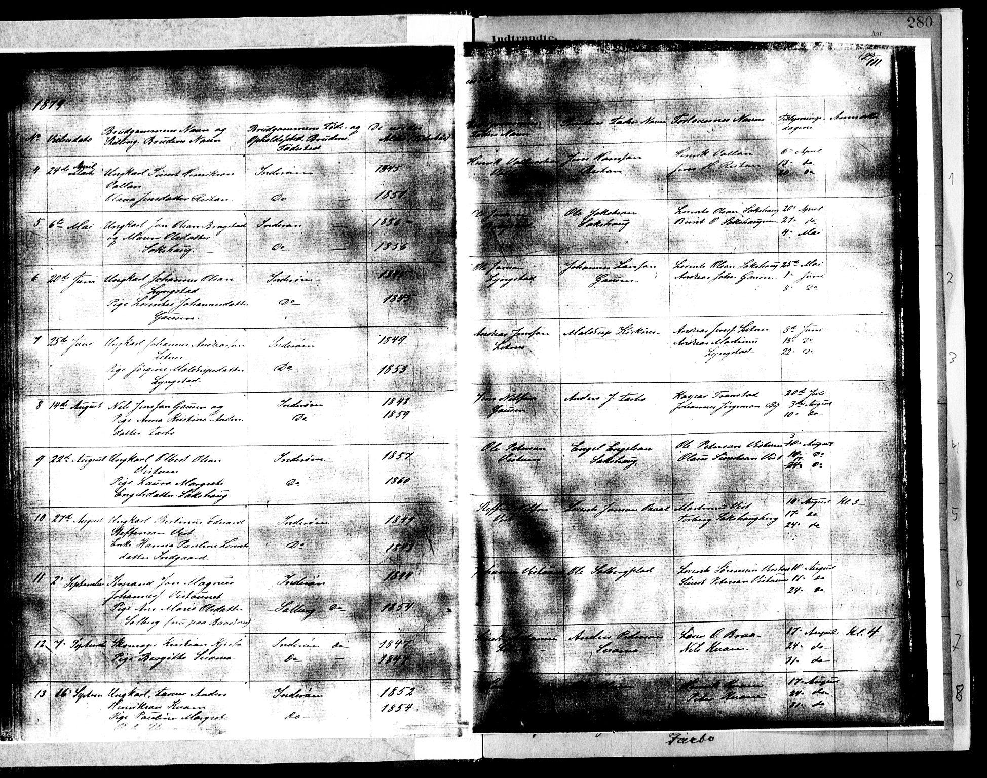 SAT, Ministerialprotokoller, klokkerbøker og fødselsregistre - Nord-Trøndelag, 730/L0285: Ministerialbok nr. 730A10, 1879-1914, s. 111