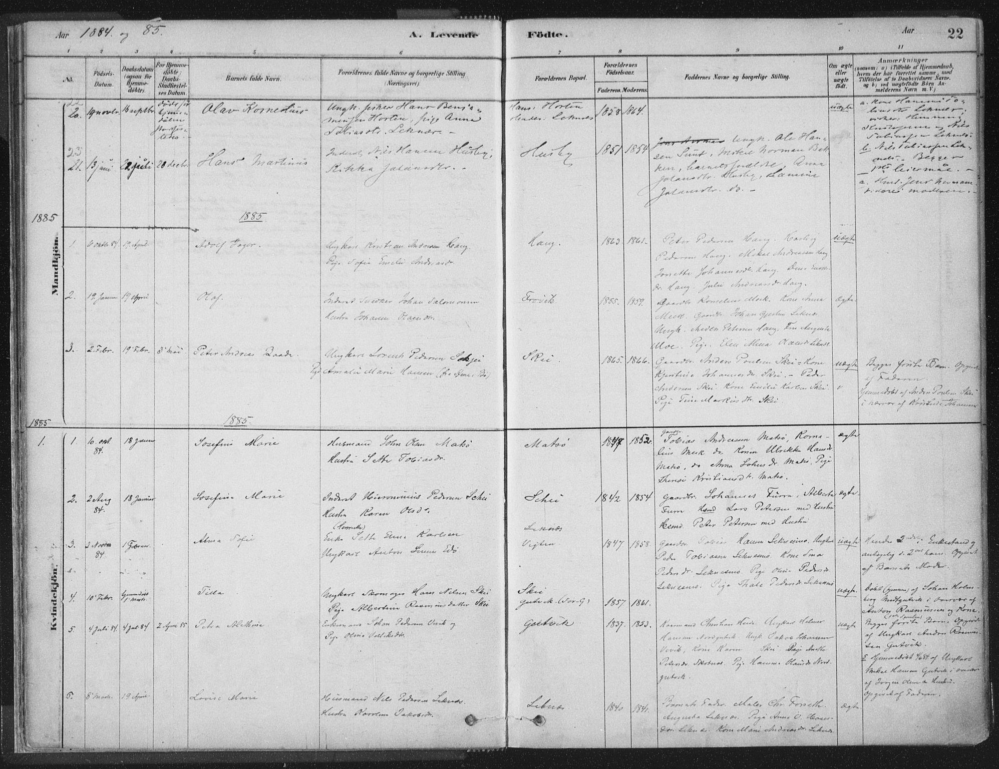 SAT, Ministerialprotokoller, klokkerbøker og fødselsregistre - Nord-Trøndelag, 788/L0697: Ministerialbok nr. 788A04, 1878-1902, s. 22