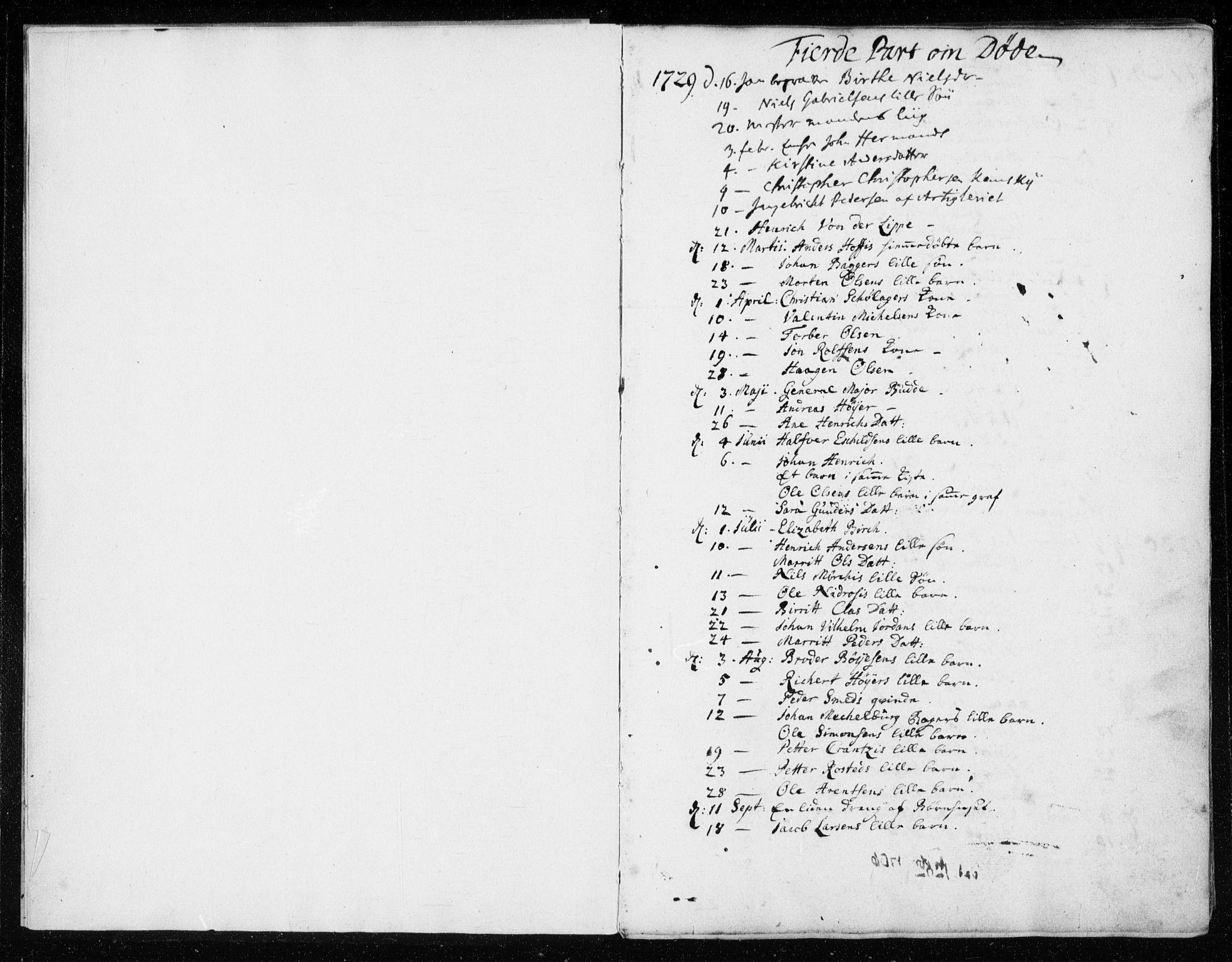SAT, Ministerialprotokoller, klokkerbøker og fødselsregistre - Sør-Trøndelag, 601/L0037: Ministerialbok nr. 601A05, 1729-1761, s. 1