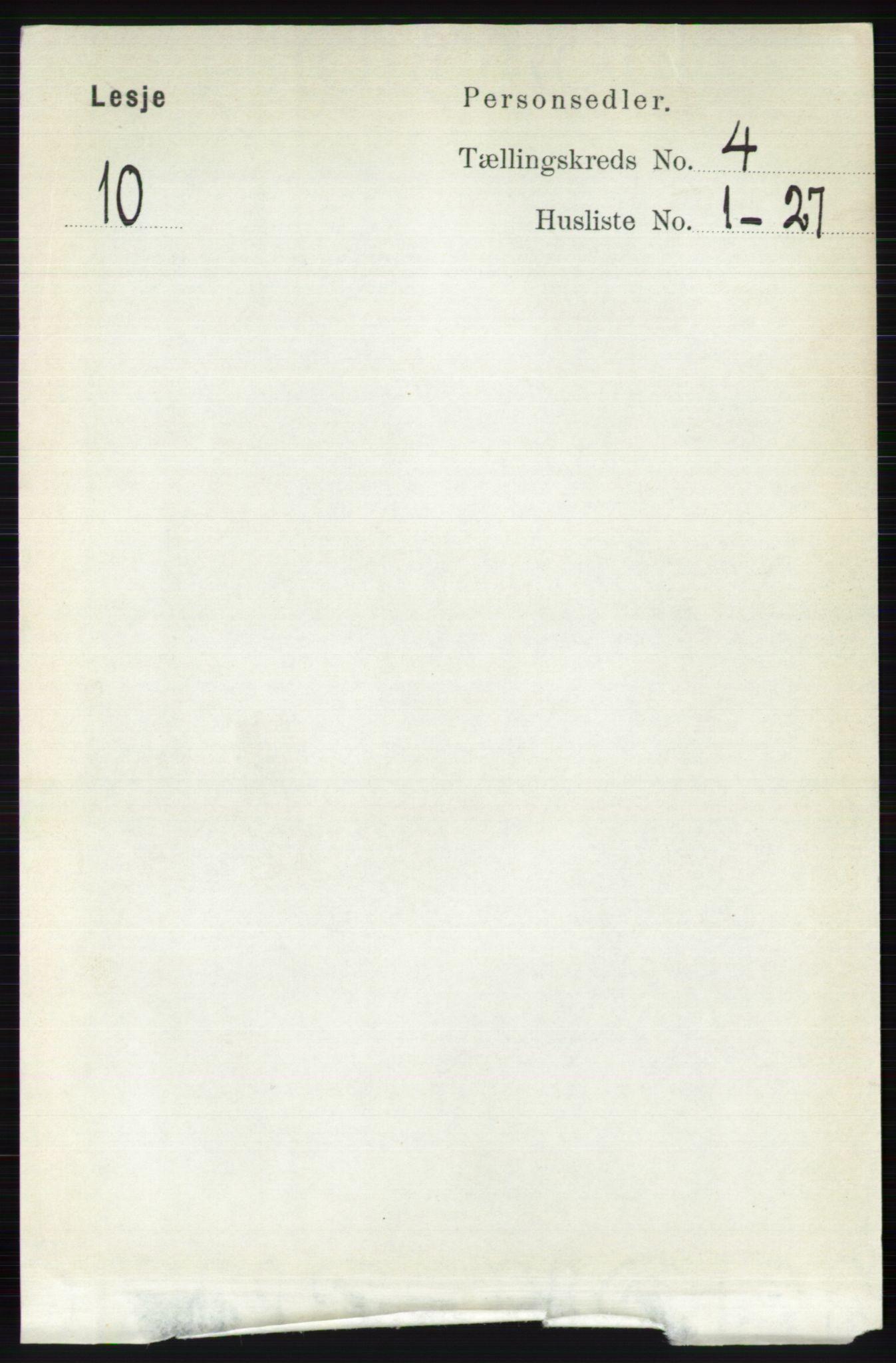 RA, Folketelling 1891 for 0512 Lesja herred, 1891, s. 1092