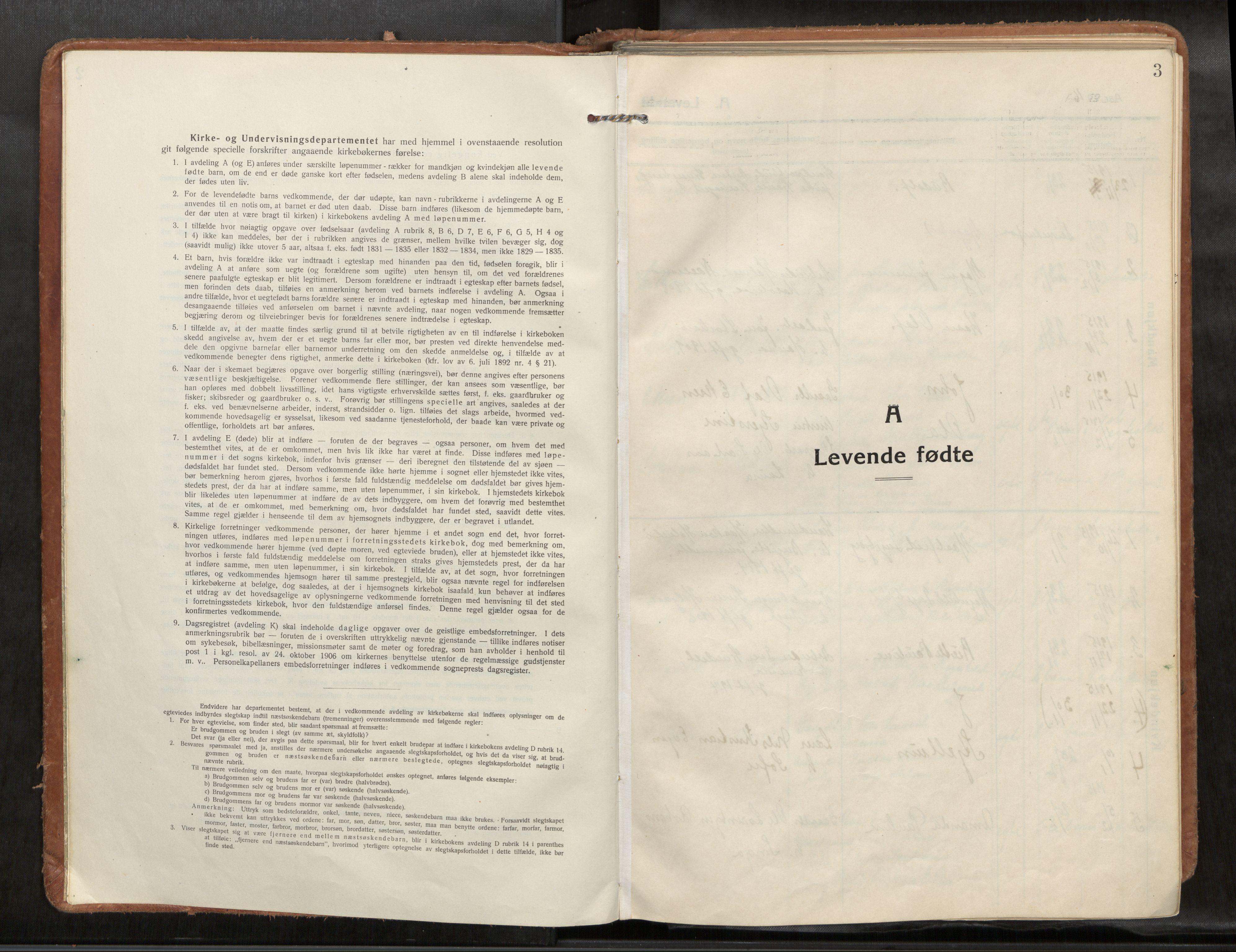 SAT, Verdal sokneprestkontor*, Ministerialbok nr. 1, 1916-1928, s. 3