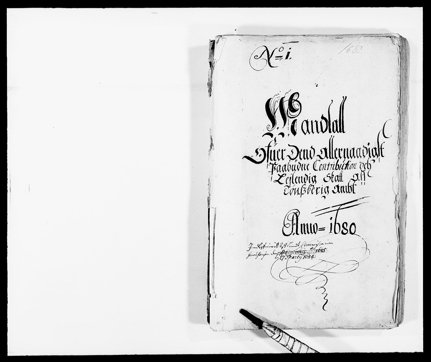 RA, Rentekammeret inntil 1814, Reviderte regnskaper, Fogderegnskap, R32/L1848: Fogderegnskap Jarlsberg grevskap, 1679-1680, s. 1