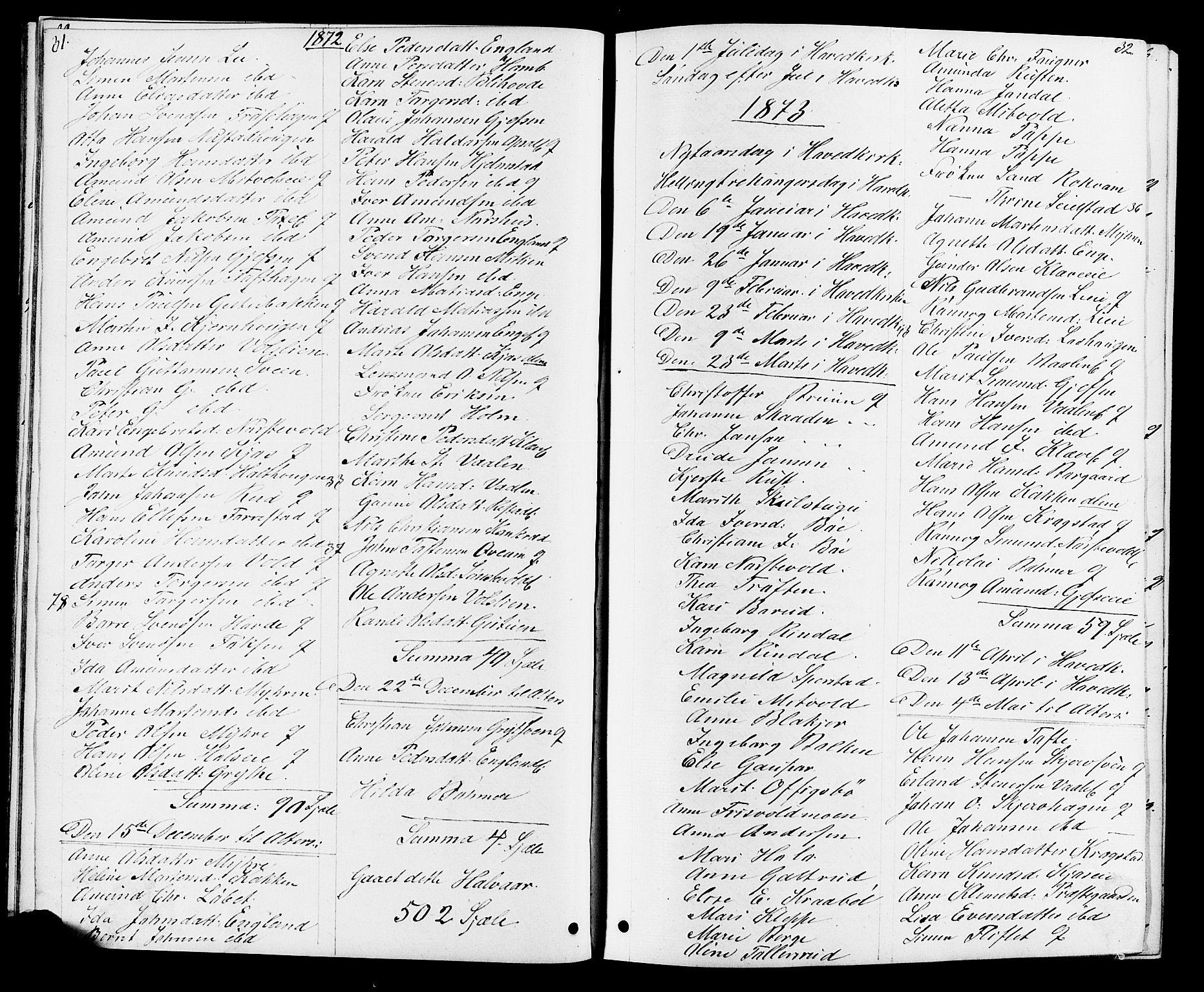 SAH, Østre Gausdal prestekontor, Klokkerbok nr. 1, 1863-1893, s. 31-32