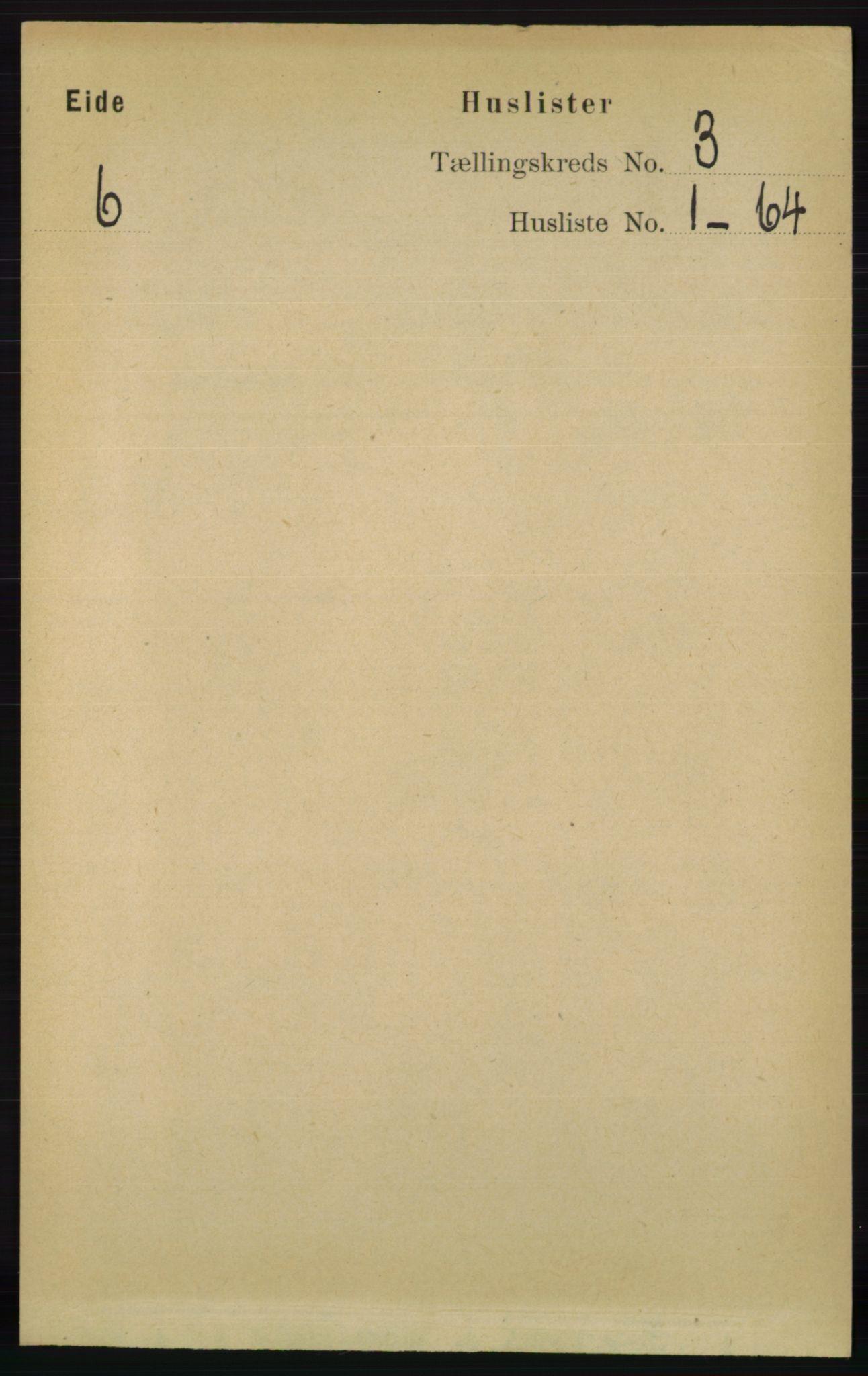 RA, Folketelling 1891 for 0925 Eide herred, 1891, s. 653