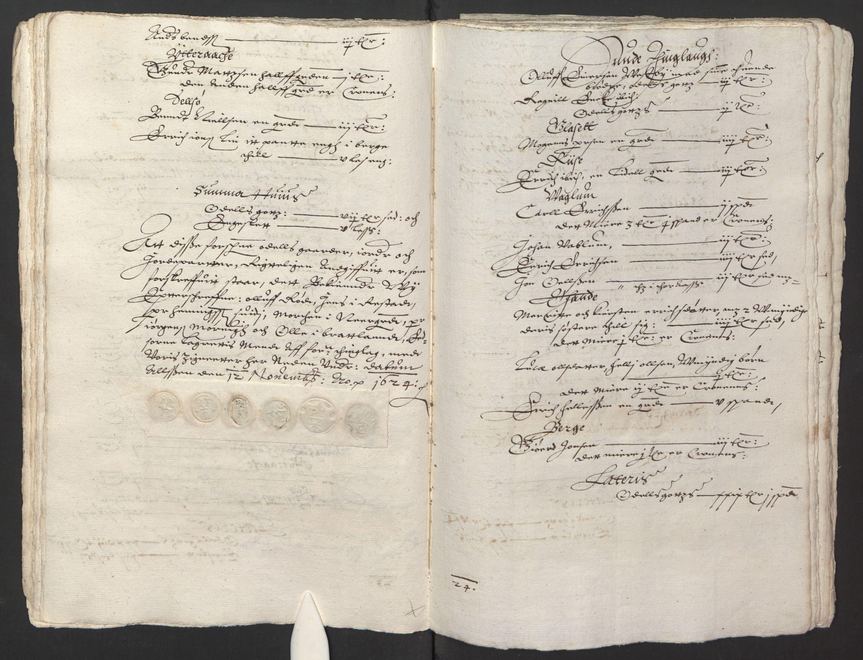 RA, Stattholderembetet 1572-1771, Ek/L0013: Jordebøker til utlikning av rosstjeneste 1624-1626:, 1624-1625, s. 119