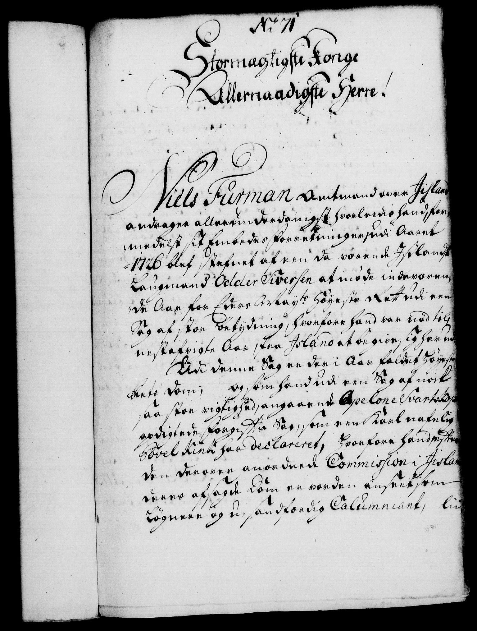 RA, Rentekammeret, Kammerkanselliet, G/Gf/Gfa/L0010: Norsk relasjons- og resolusjonsprotokoll (merket RK 52.10), 1727, s. 509