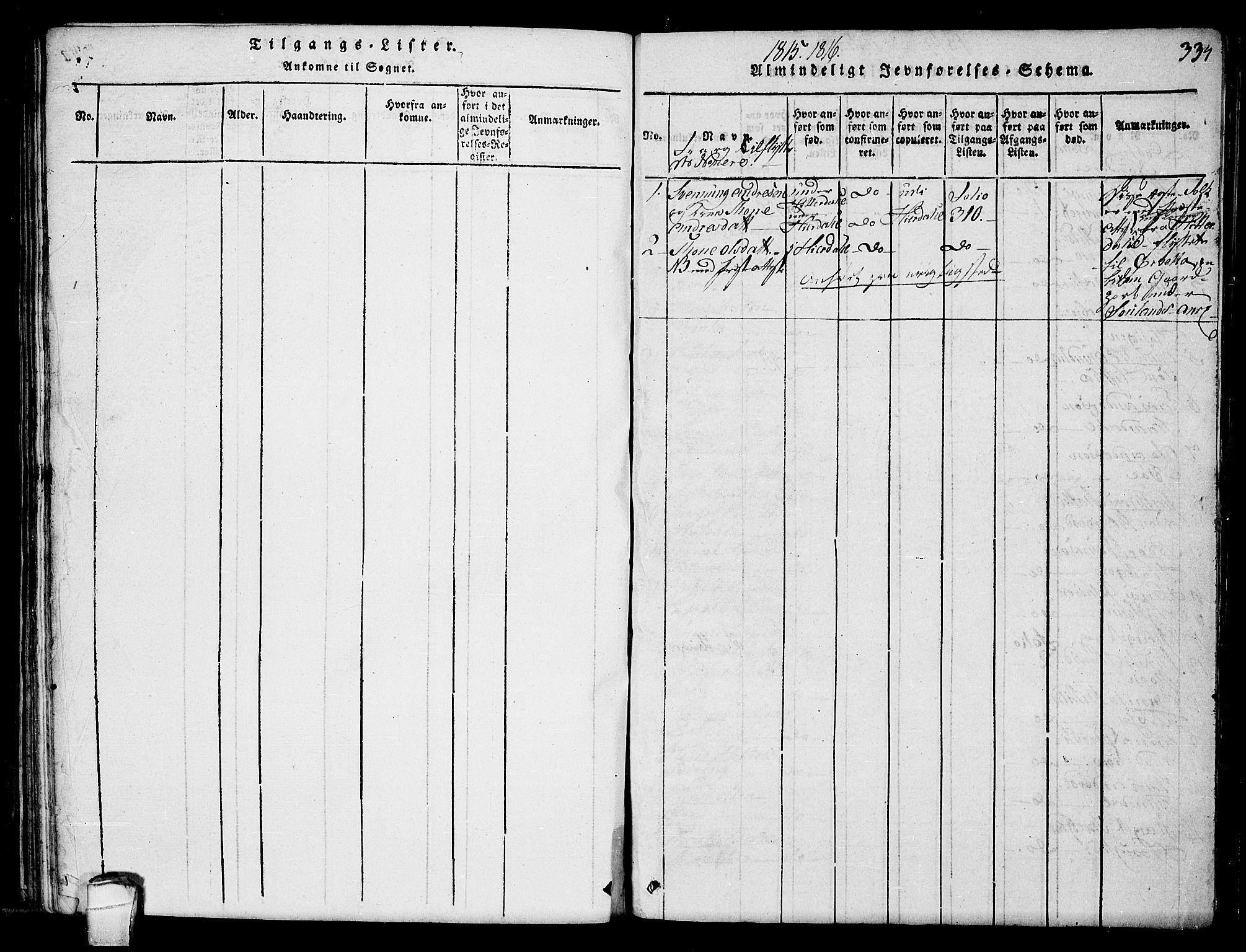 SAKO, Hjartdal kirkebøker, F/Fb/L0001: Ministerialbok nr. II 1, 1815-1843, s. 334