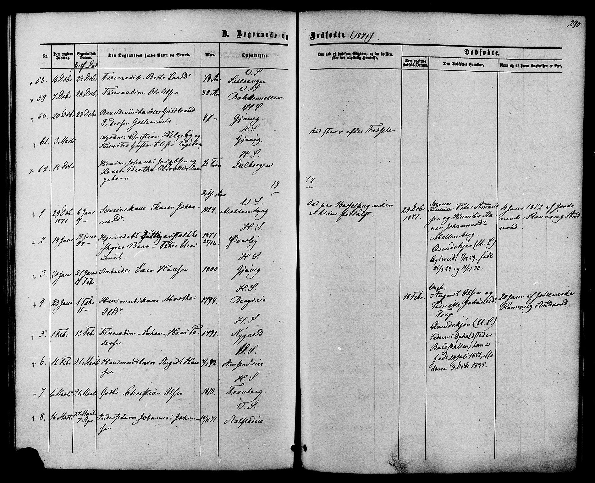SAH, Vardal prestekontor, H/Ha/Haa/L0007: Ministerialbok nr. 7, 1867-1878, s. 290