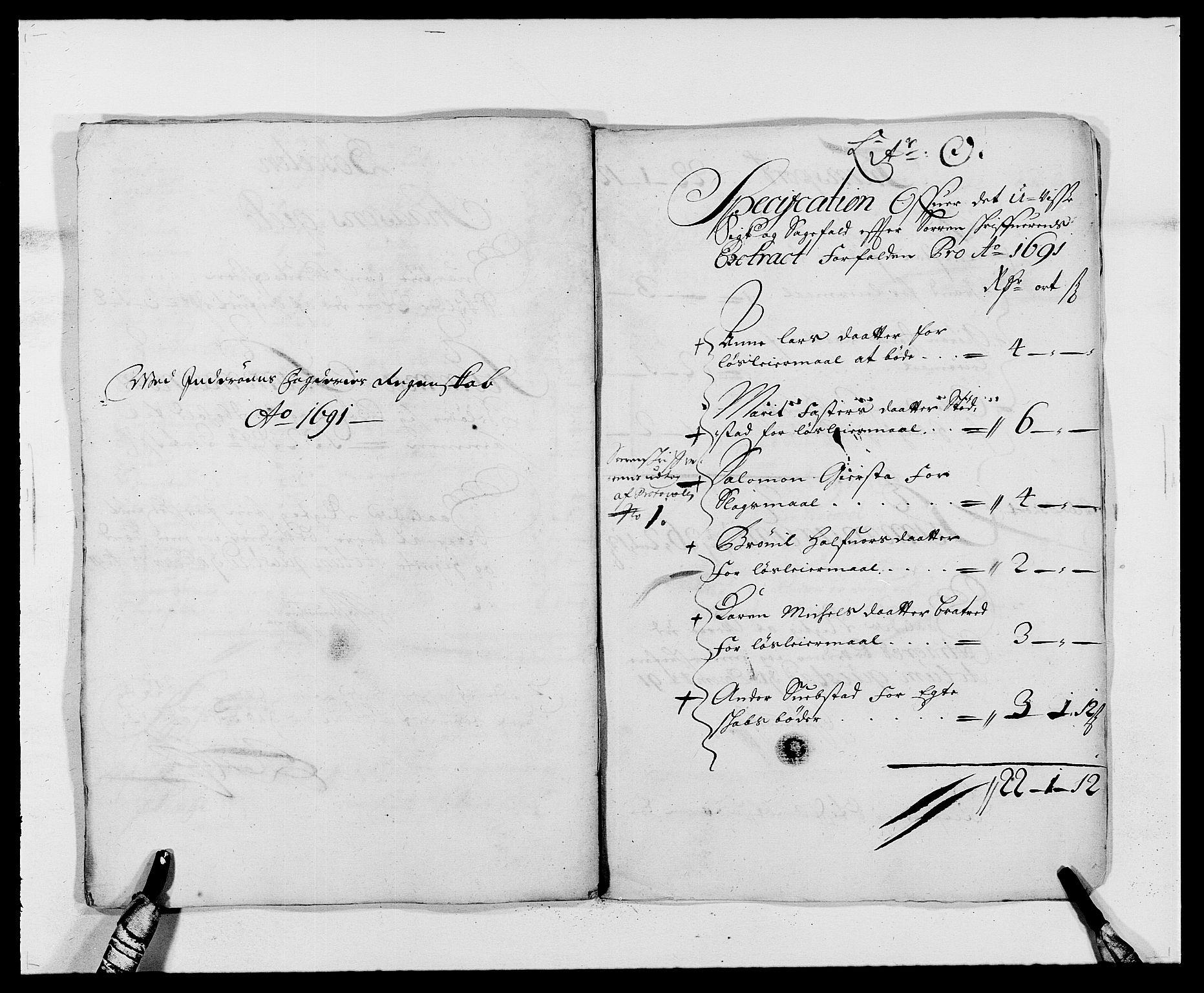 RA, Rentekammeret inntil 1814, Reviderte regnskaper, Fogderegnskap, R63/L4307: Fogderegnskap Inderøy, 1690-1691, s. 402