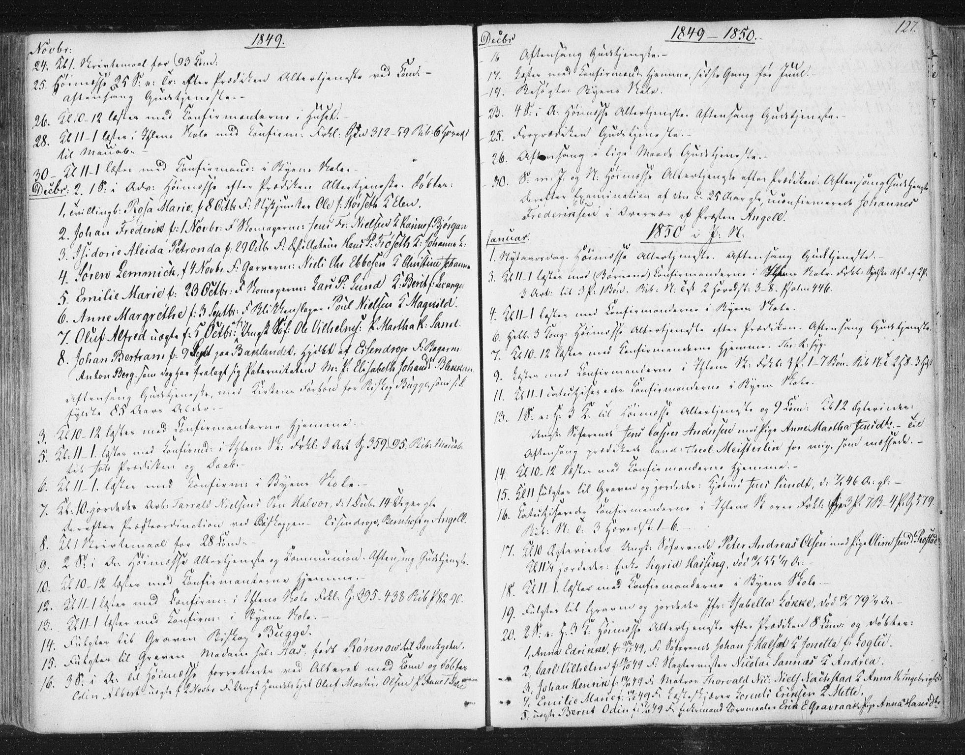 SAT, Ministerialprotokoller, klokkerbøker og fødselsregistre - Sør-Trøndelag, 602/L0127: Residerende kapellans bok nr. 602B01, 1821-1875, s. 127
