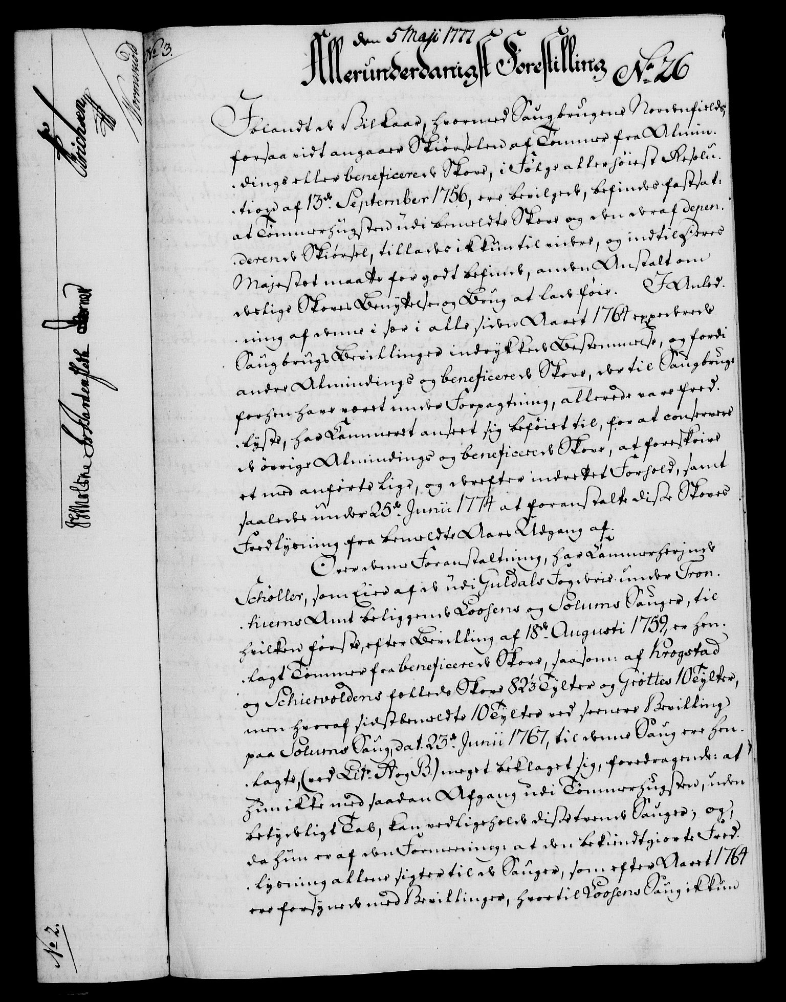 RA, Rentekammeret, Kammerkanselliet, G/Gf/Gfa/L0059: Norsk relasjons- og resolusjonsprotokoll (merket RK 52.59), 1777, s. 123