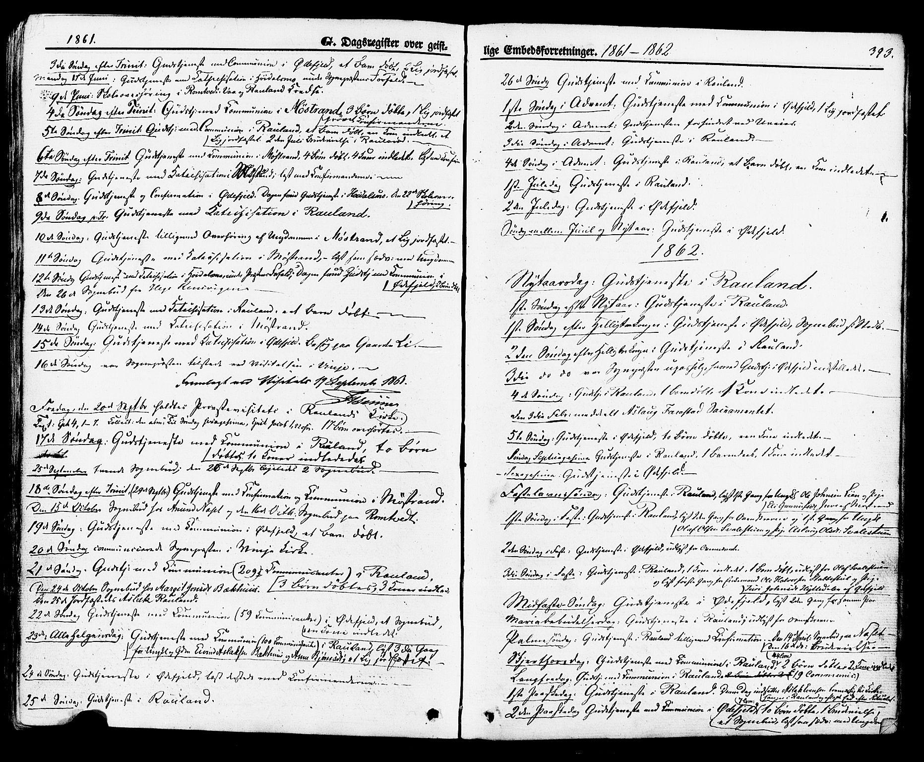 SAKO, Rauland kirkebøker, F/Fa/L0003: Ministerialbok nr. 3, 1859-1886, s. 393