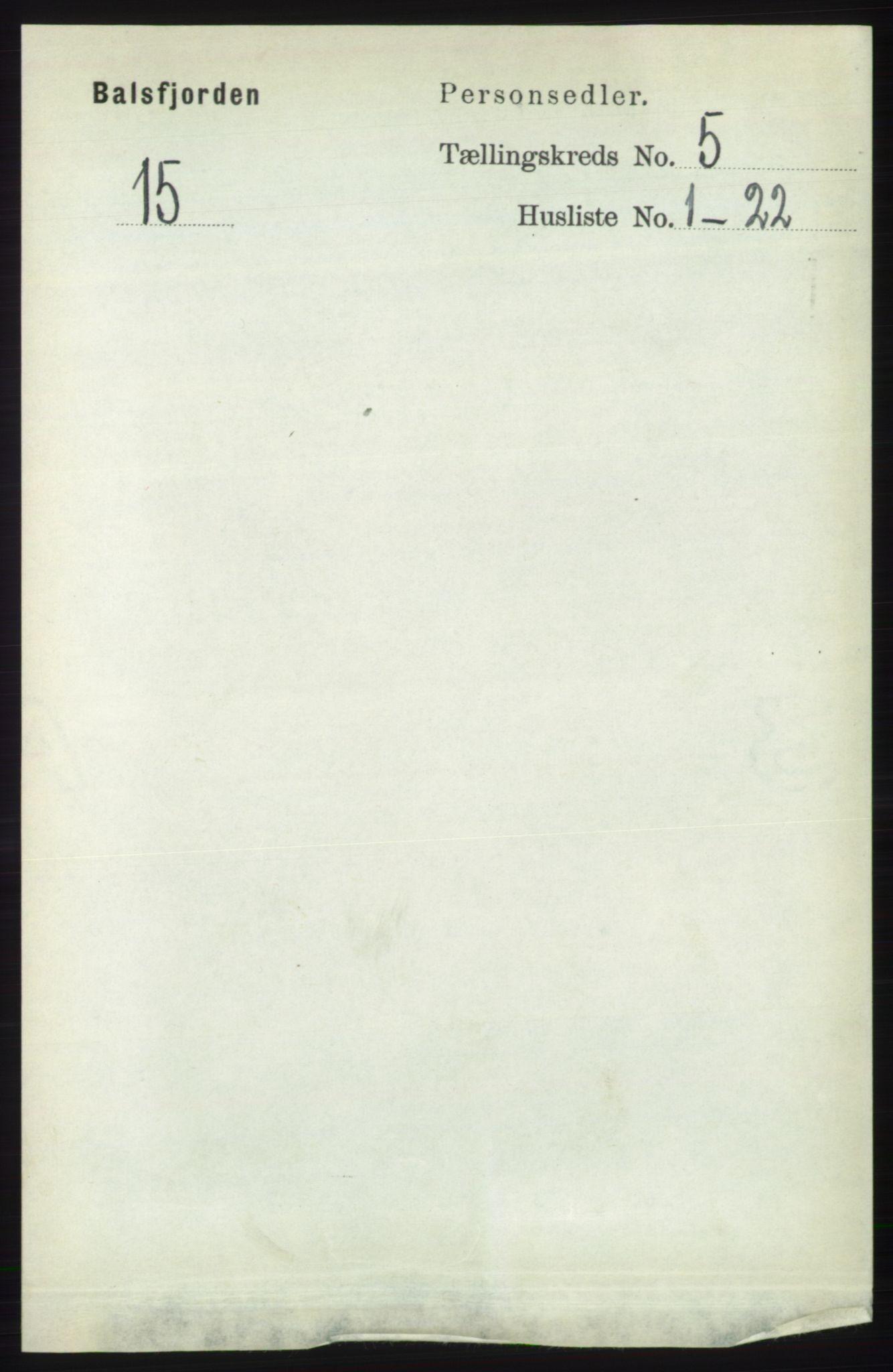 RA, Folketelling 1891 for 1933 Balsfjord herred, 1891, s. 1428