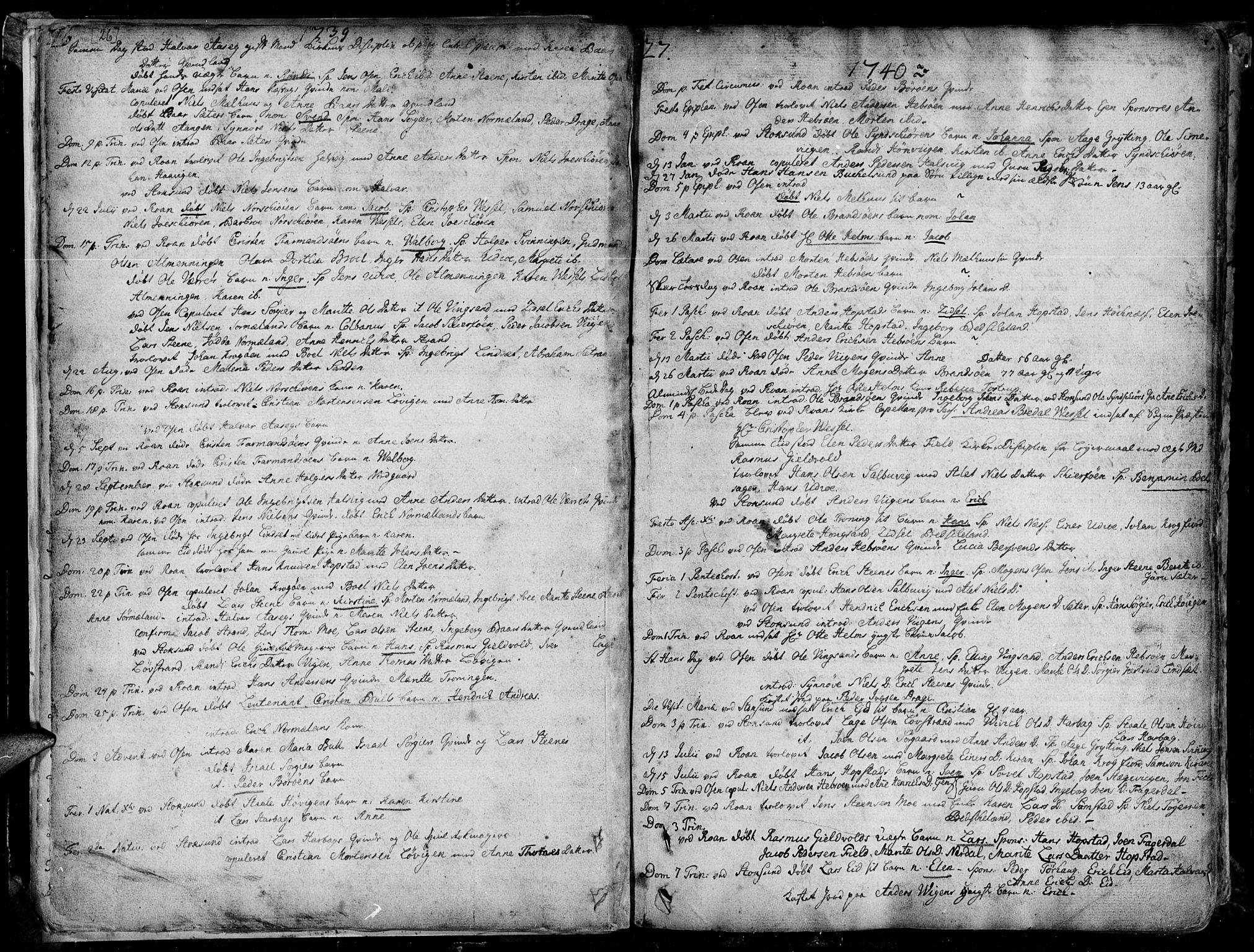 SAT, Ministerialprotokoller, klokkerbøker og fødselsregistre - Sør-Trøndelag, 657/L0700: Ministerialbok nr. 657A01, 1732-1801, s. 26-27