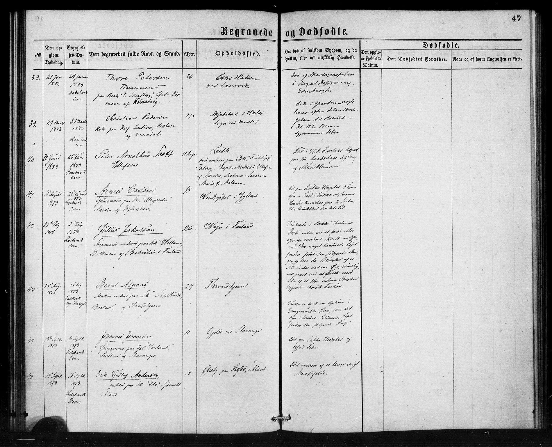 SAB, Den Norske Sjømannsmisjon i utlandet*, Ministerialbok nr. A 1, 1865-1880, s. 47