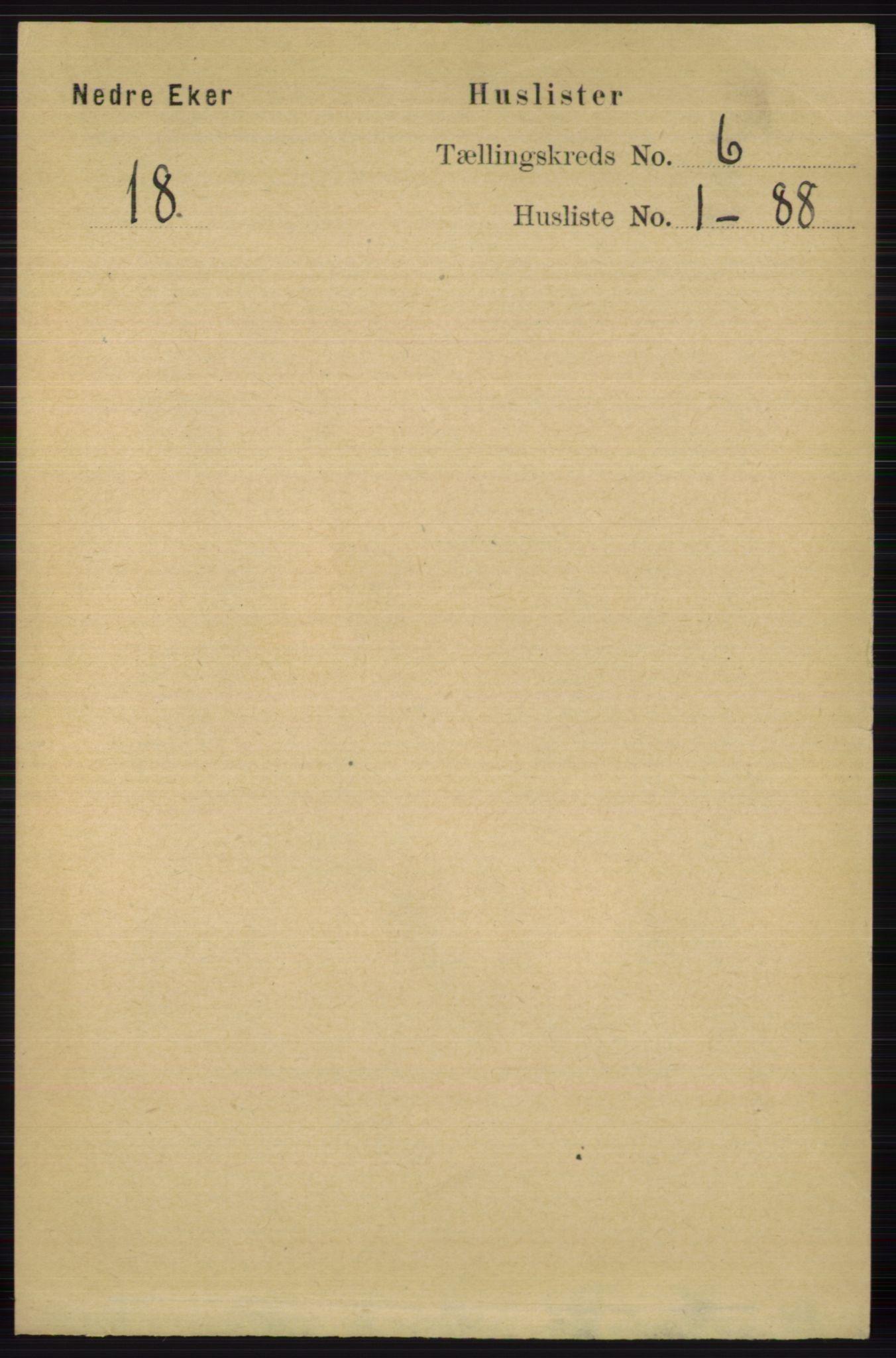 RA, Folketelling 1891 for 0625 Nedre Eiker herred, 1891, s. 2804