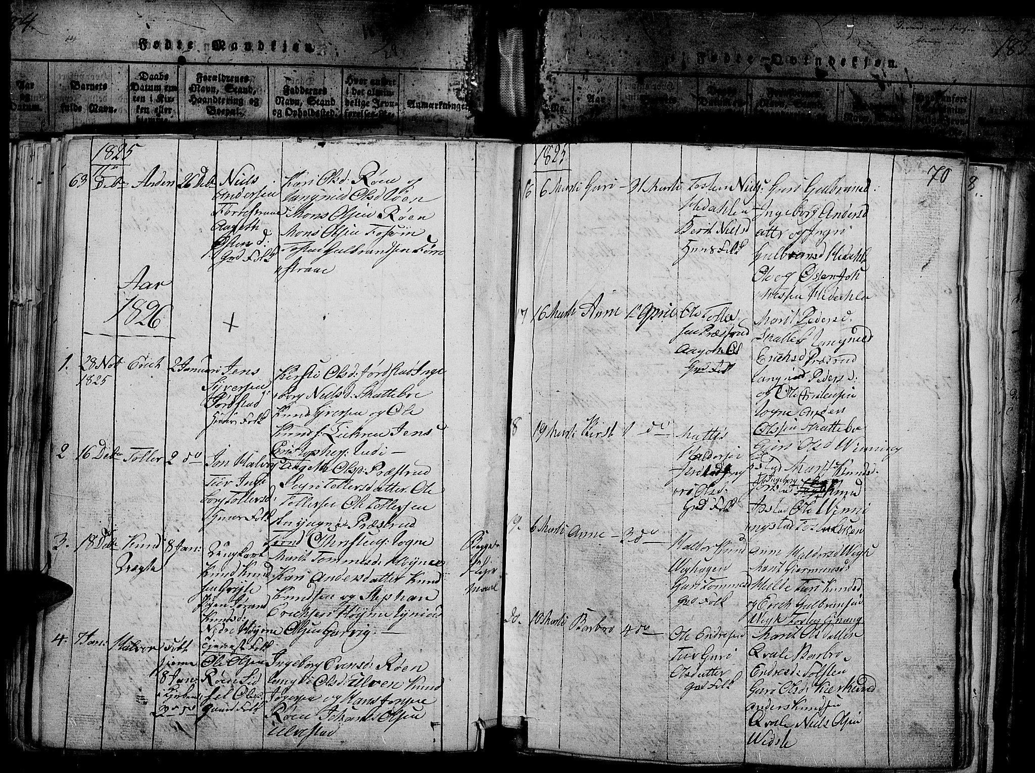 SAH, Slidre prestekontor, Ministerialbok nr. 2, 1814-1830, s. 186t