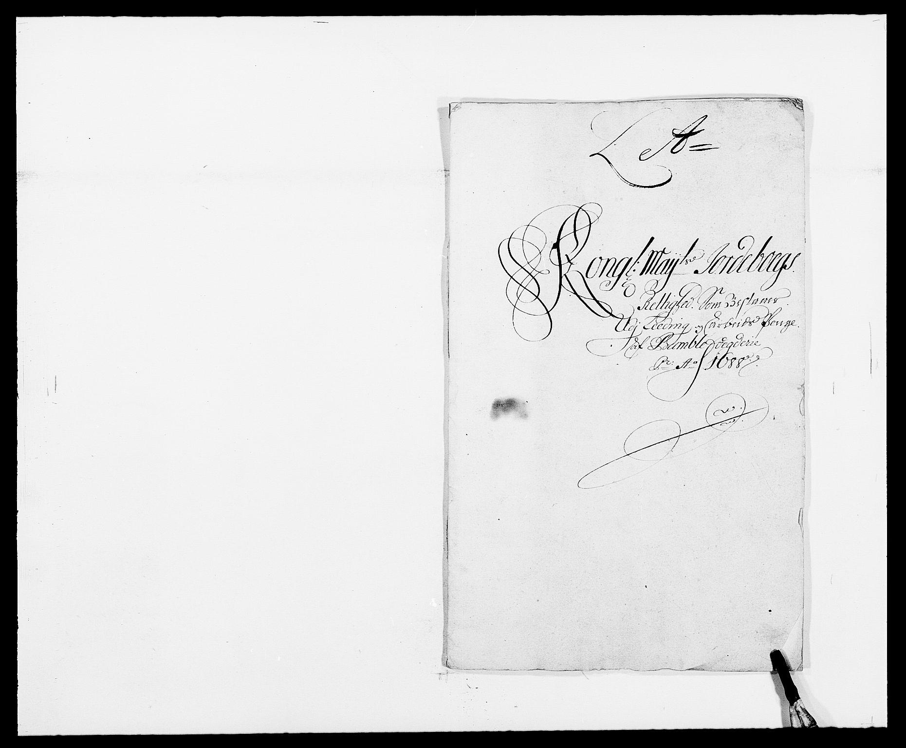 RA, Rentekammeret inntil 1814, Reviderte regnskaper, Fogderegnskap, R34/L2050: Fogderegnskap Bamble, 1688-1691, s. 45
