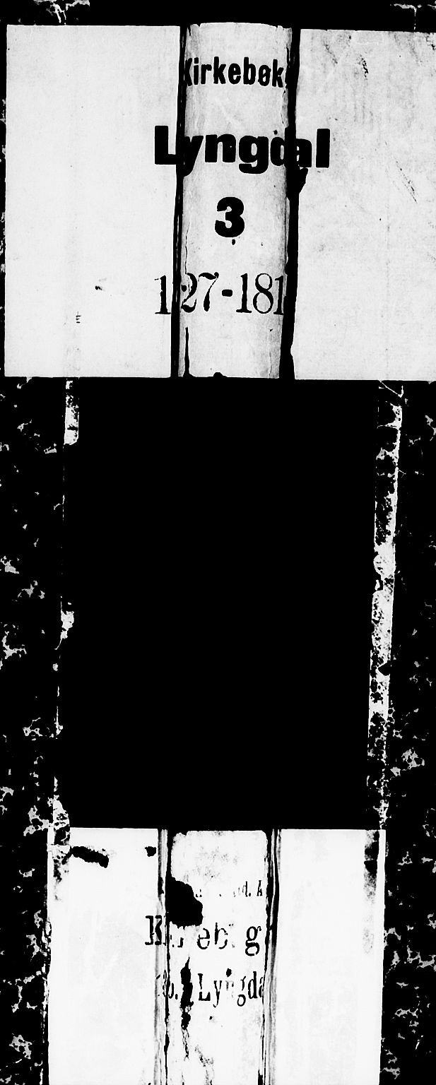 SAK, Lyngdal sokneprestkontor, F/Fa/Fac/L0002: Ministerialbok nr. A 2, 1727-1815