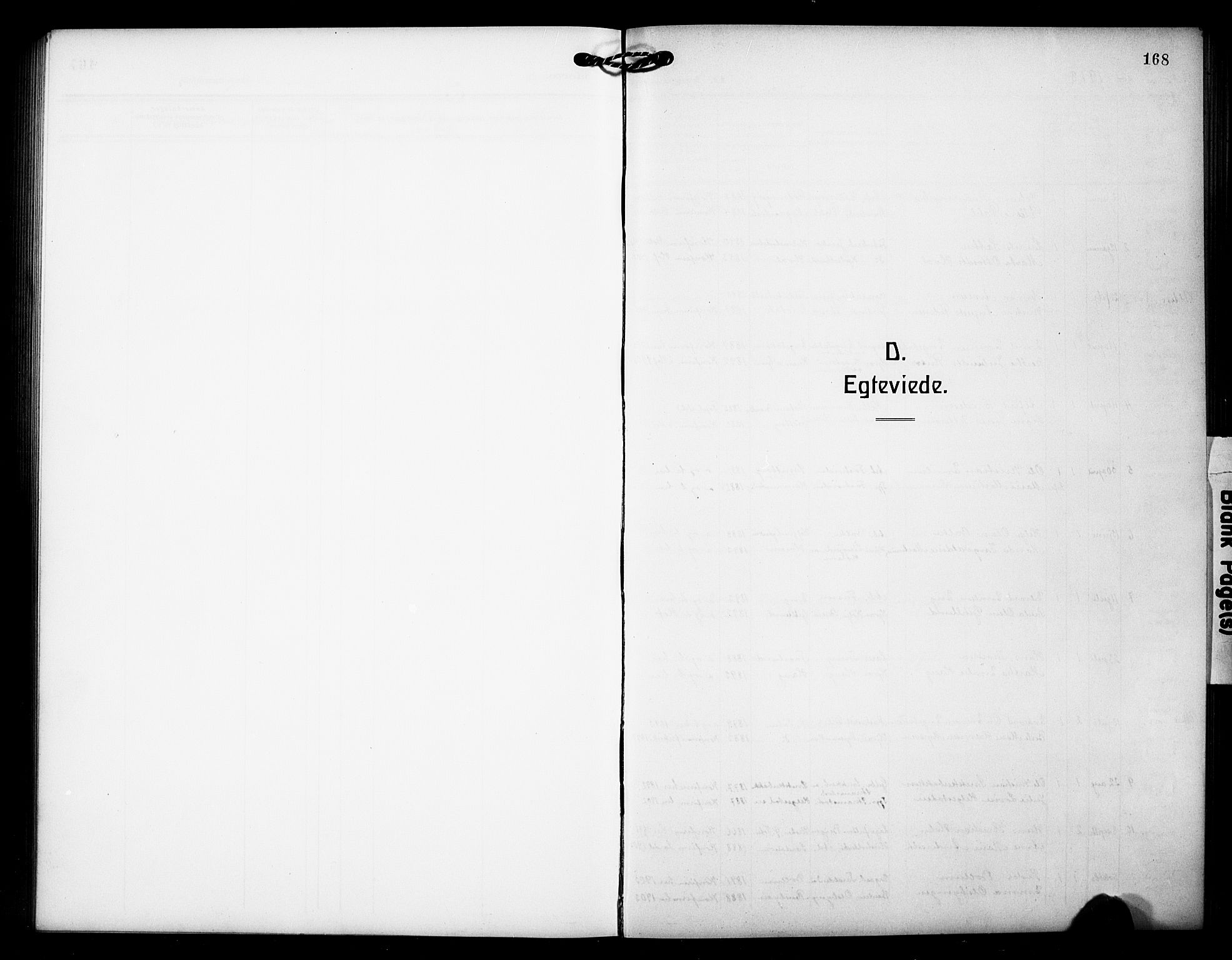 SAH, Østre Toten prestekontor, Klokkerbok nr. 8, 1913-1929, s. 168