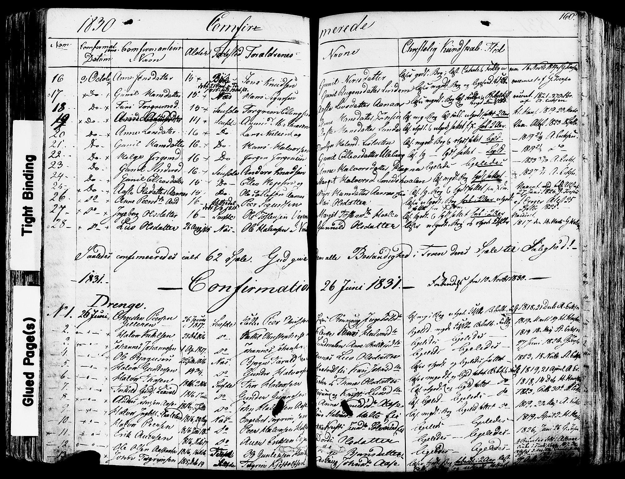 SAKO, Sauherad kirkebøker, F/Fa/L0006: Ministerialbok nr. I 6, 1827-1850, s. 160