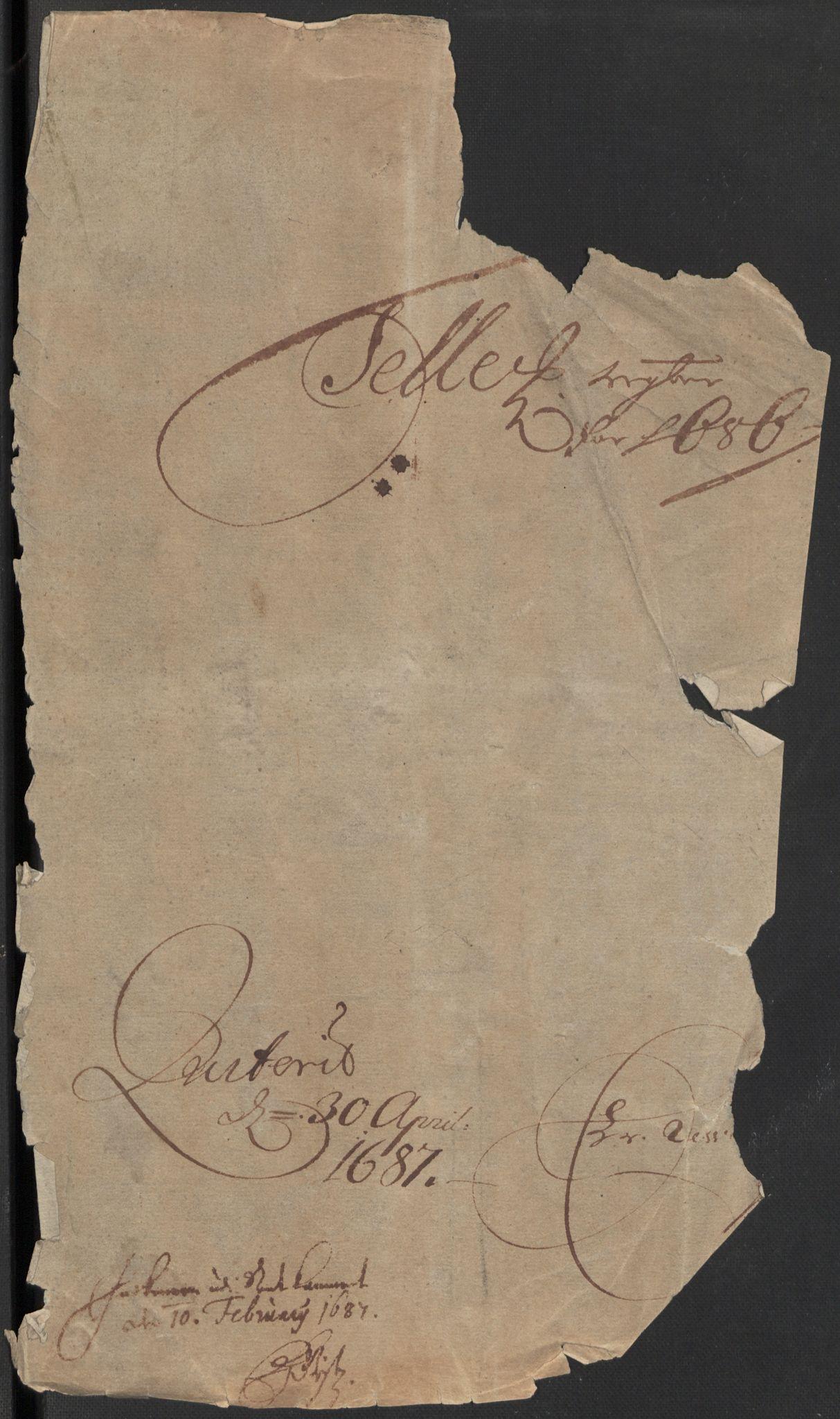 RA, Rentekammeret inntil 1814, Reviderte regnskaper, Fogderegnskap, R35/L2083: Fogderegnskap Øvre og Nedre Telemark, 1686, s. 3