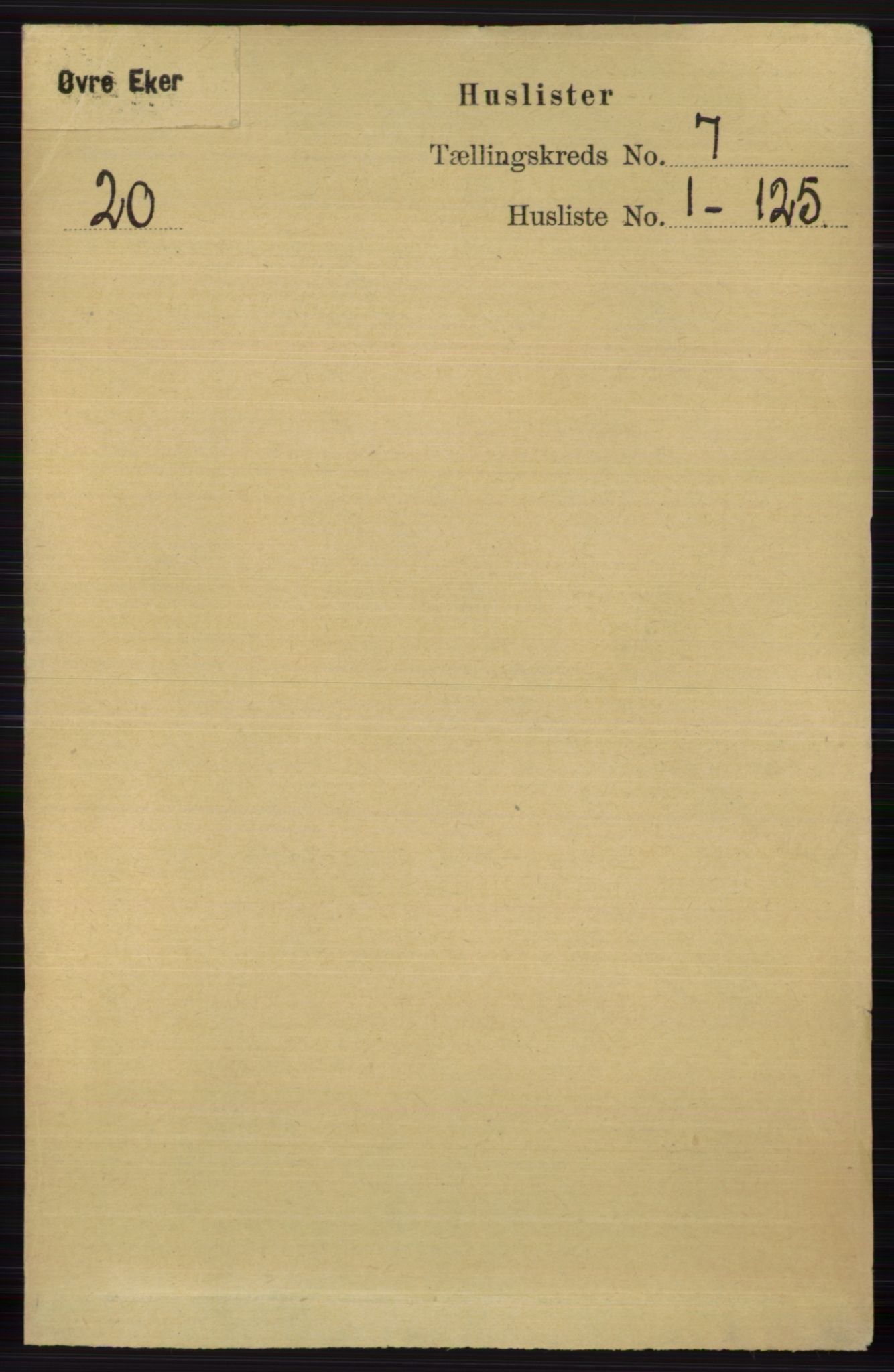RA, Folketelling 1891 for 0624 Øvre Eiker herred, 1891, s. 2539