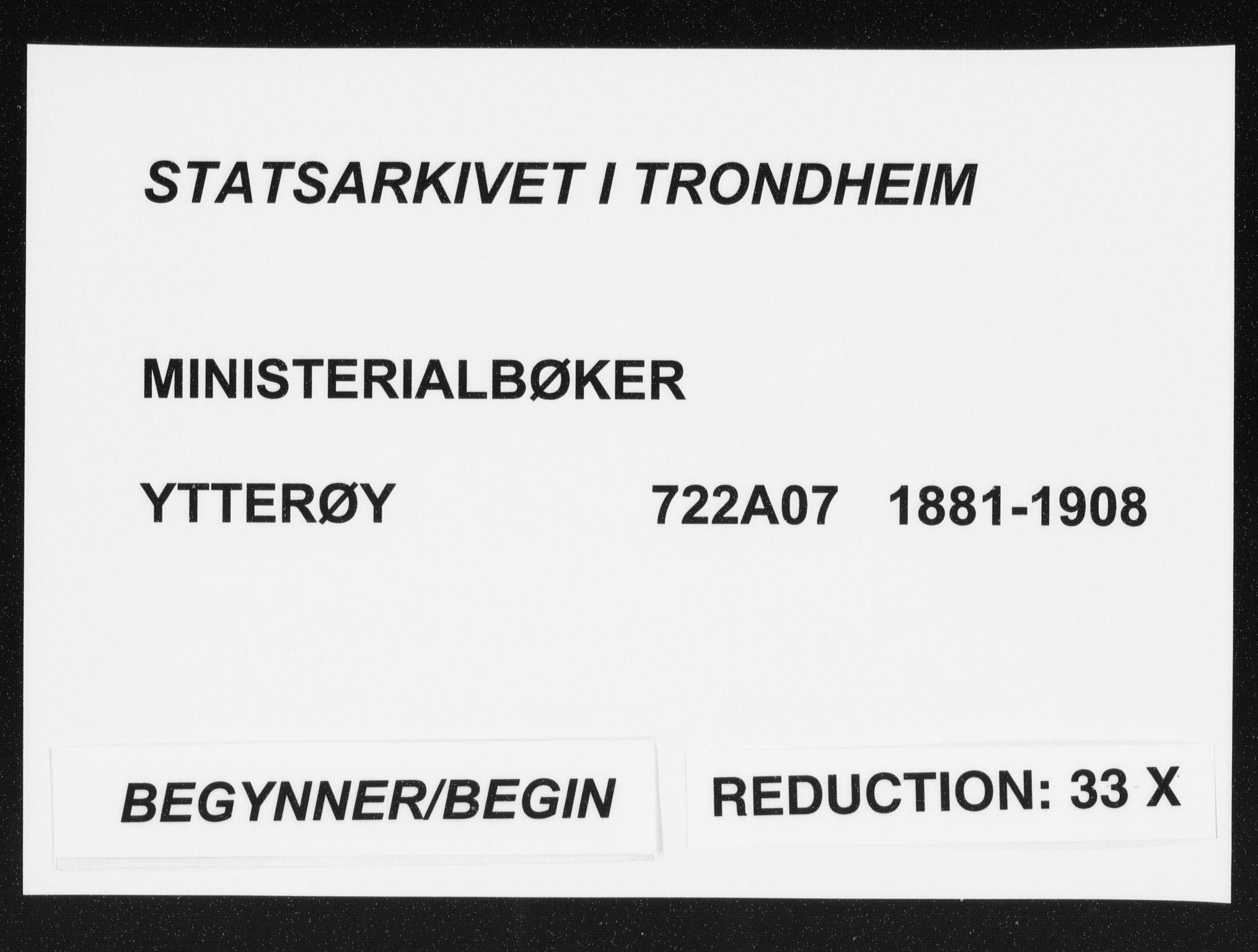 SAT, Ministerialprotokoller, klokkerbøker og fødselsregistre - Nord-Trøndelag, 722/L0220: Ministerialbok nr. 722A07, 1881-1908