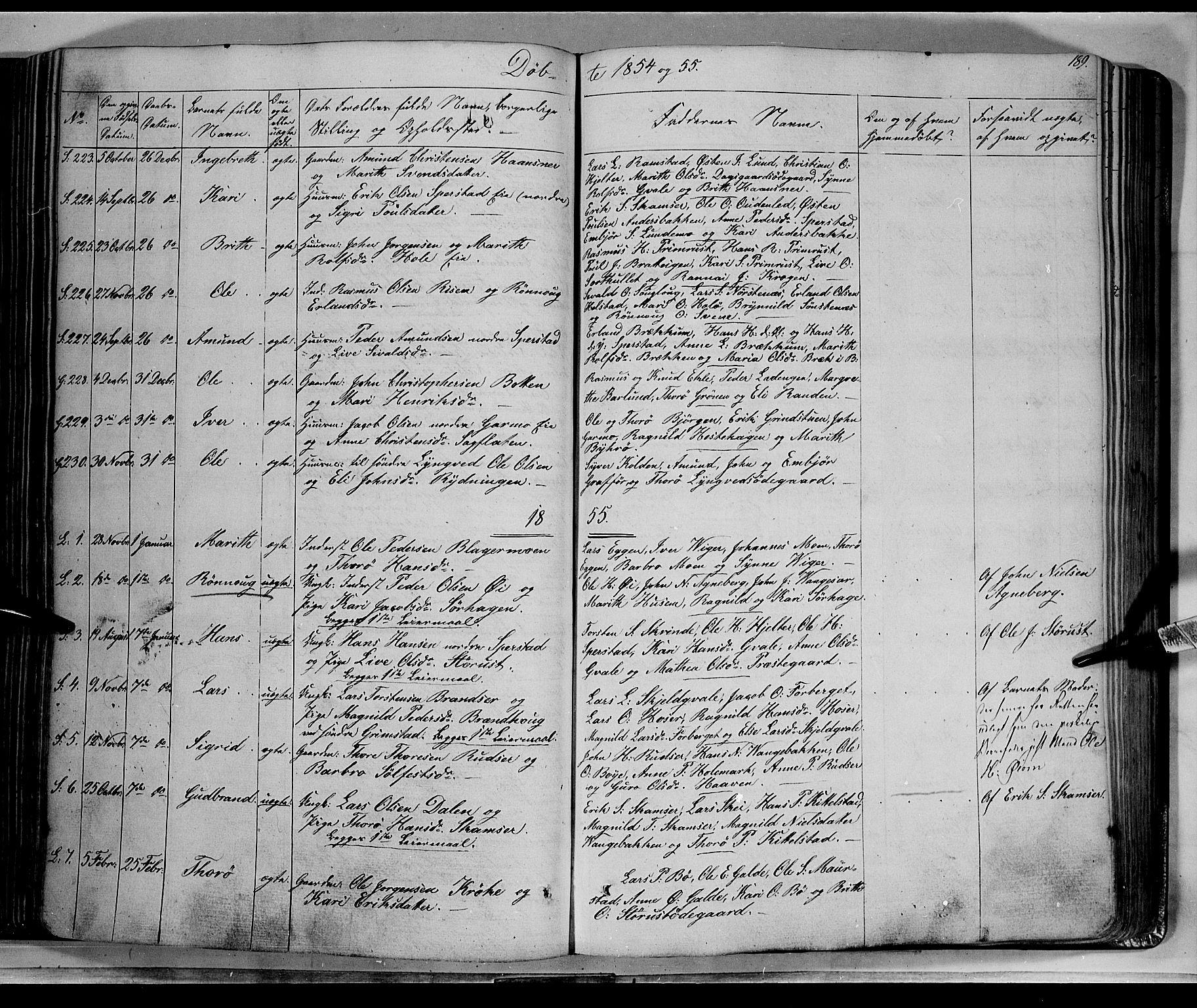 SAH, Lom prestekontor, K/L0006: Ministerialbok nr. 6A, 1837-1863, s. 189