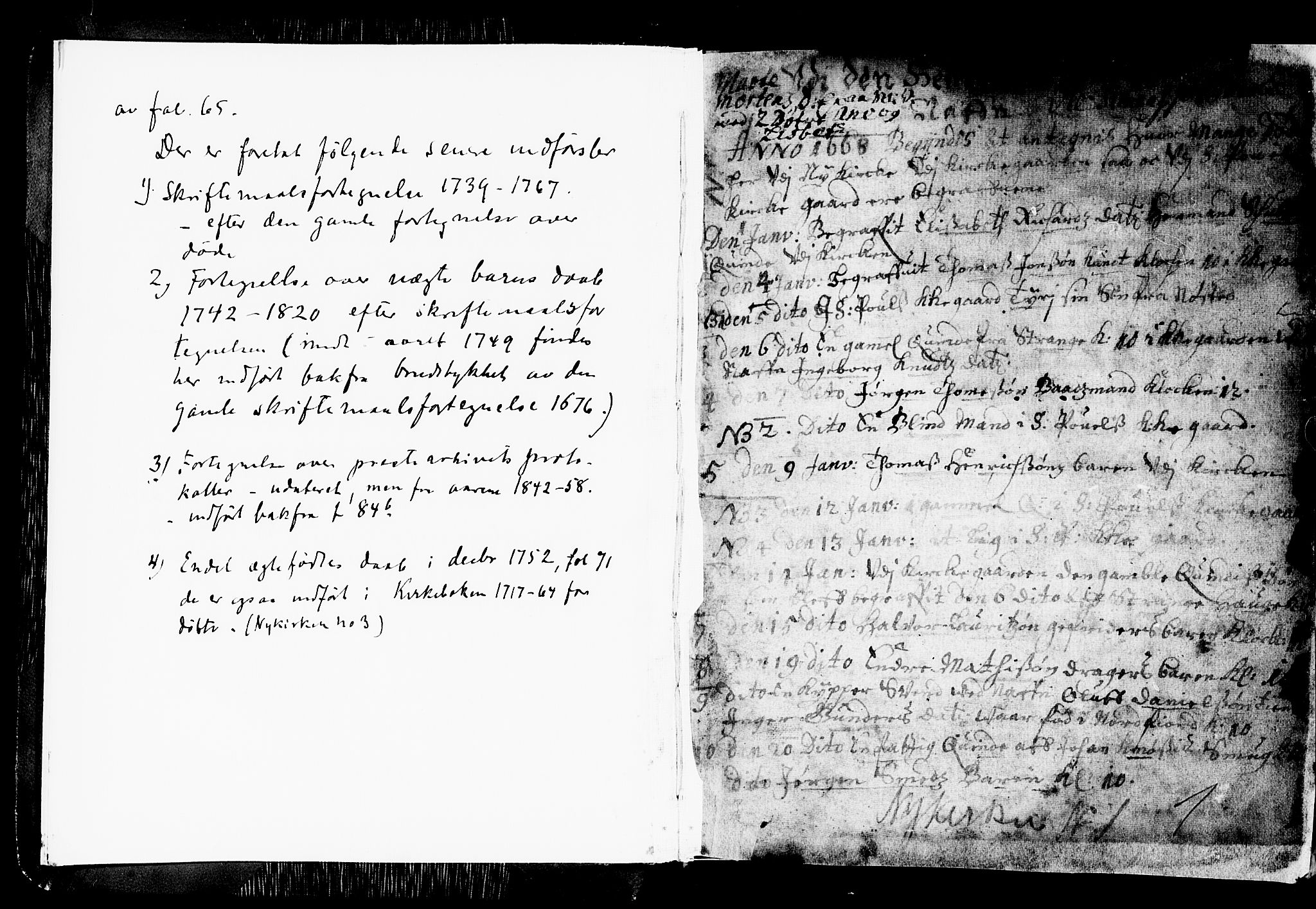 SAB, Nykirken Sokneprestembete, H/Haa: Ministerialbok nr. A 1, 1668-1820, s. 1