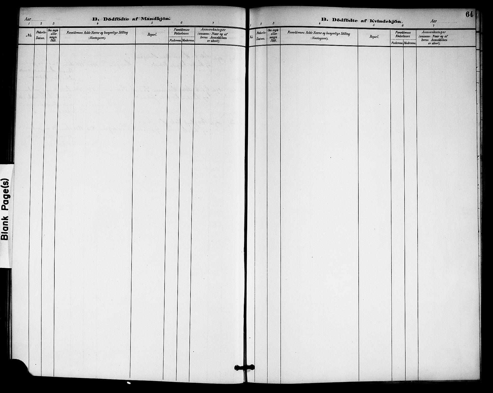 SAKO, Gransherad kirkebøker, G/Gb/L0003: Klokkerbok nr. II 3, 1887-1921, s. 64