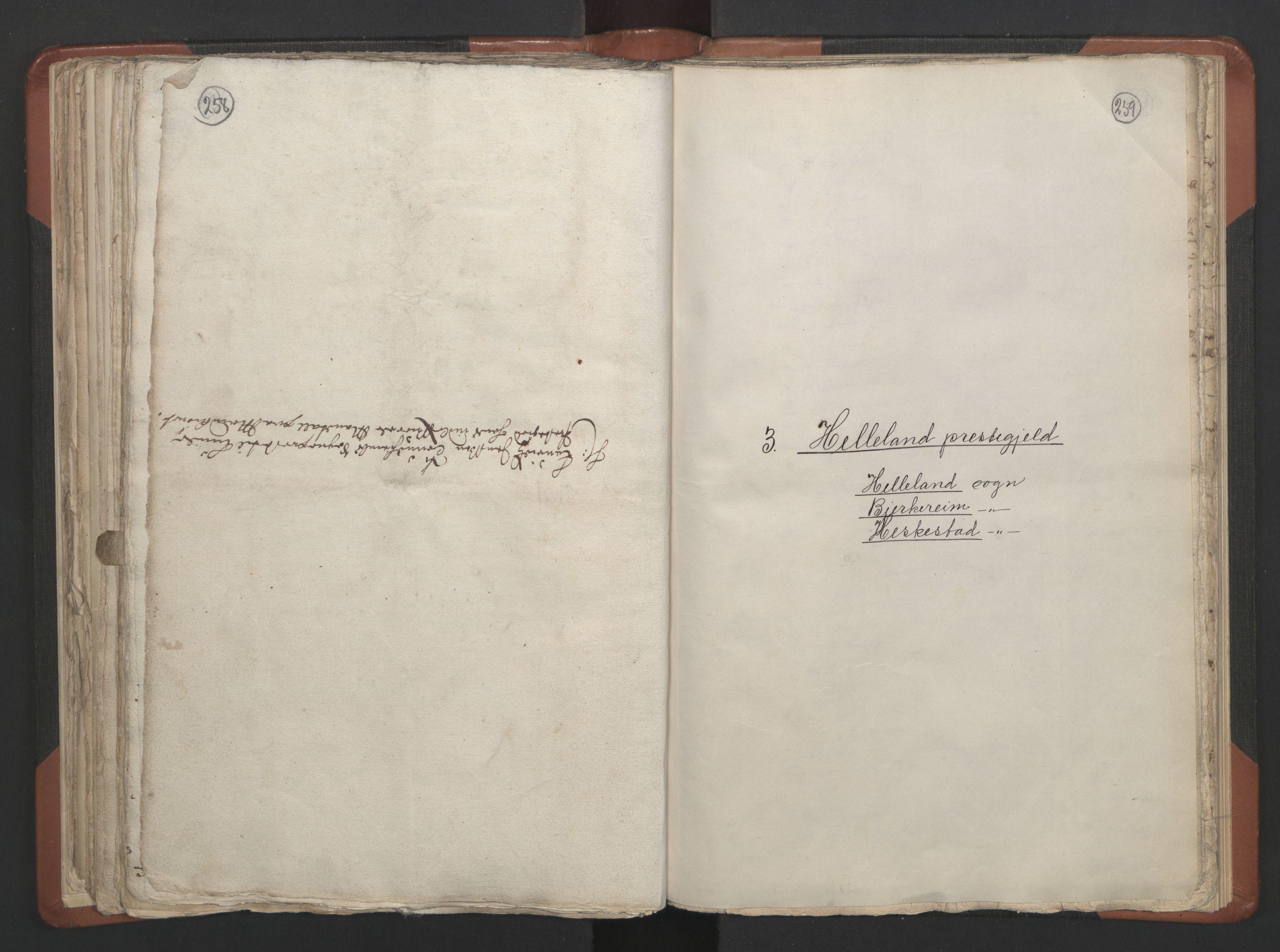 RA, Sogneprestenes manntall 1664-1666, nr. 17: Jæren prosti og Dalane prosti, 1664-1666, s. 258-259
