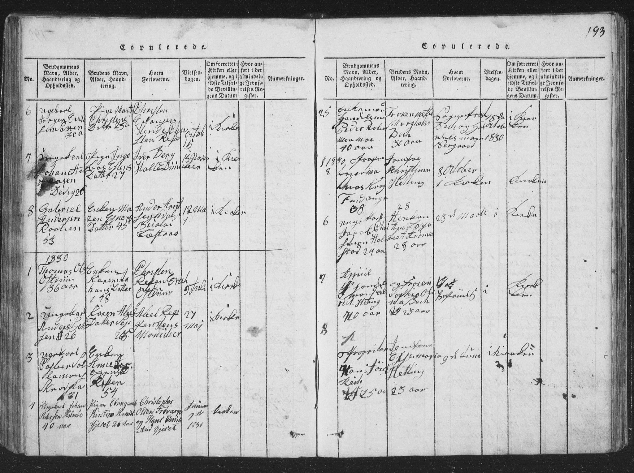 SAT, Ministerialprotokoller, klokkerbøker og fødselsregistre - Nord-Trøndelag, 773/L0613: Ministerialbok nr. 773A04, 1815-1845, s. 193