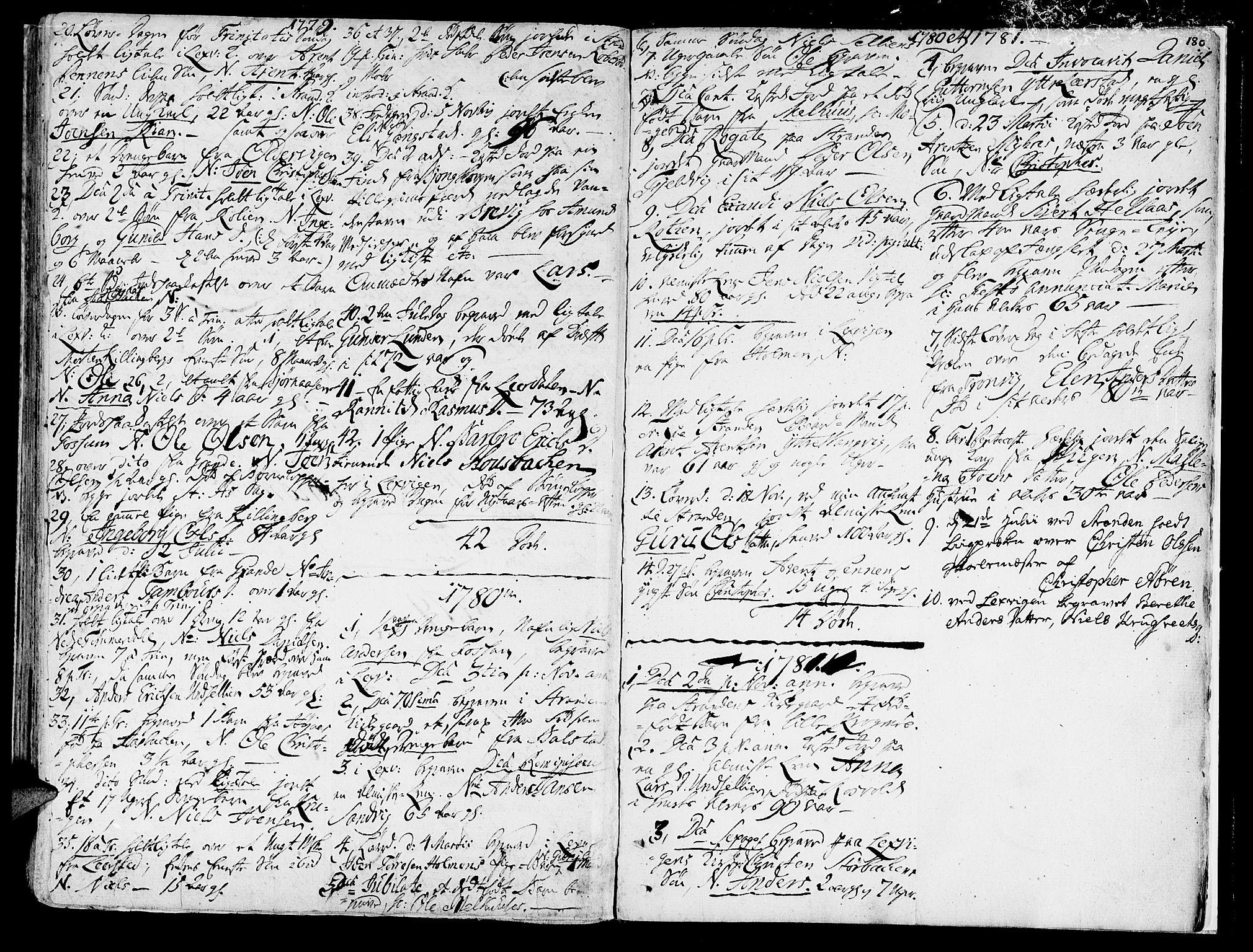 SAT, Ministerialprotokoller, klokkerbøker og fødselsregistre - Nord-Trøndelag, 701/L0003: Ministerialbok nr. 701A03, 1751-1783, s. 180