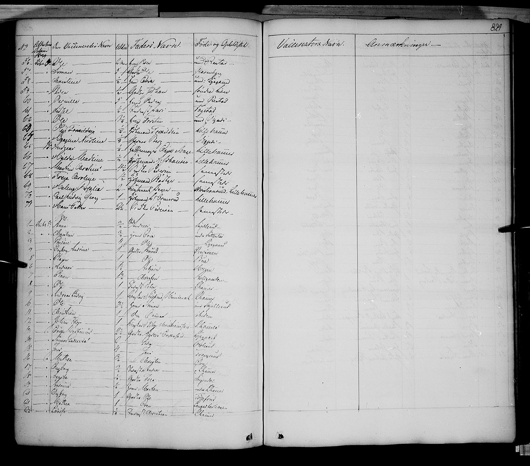 SAH, Fåberg prestekontor, Ministerialbok nr. 5, 1836-1854, s. 823-824