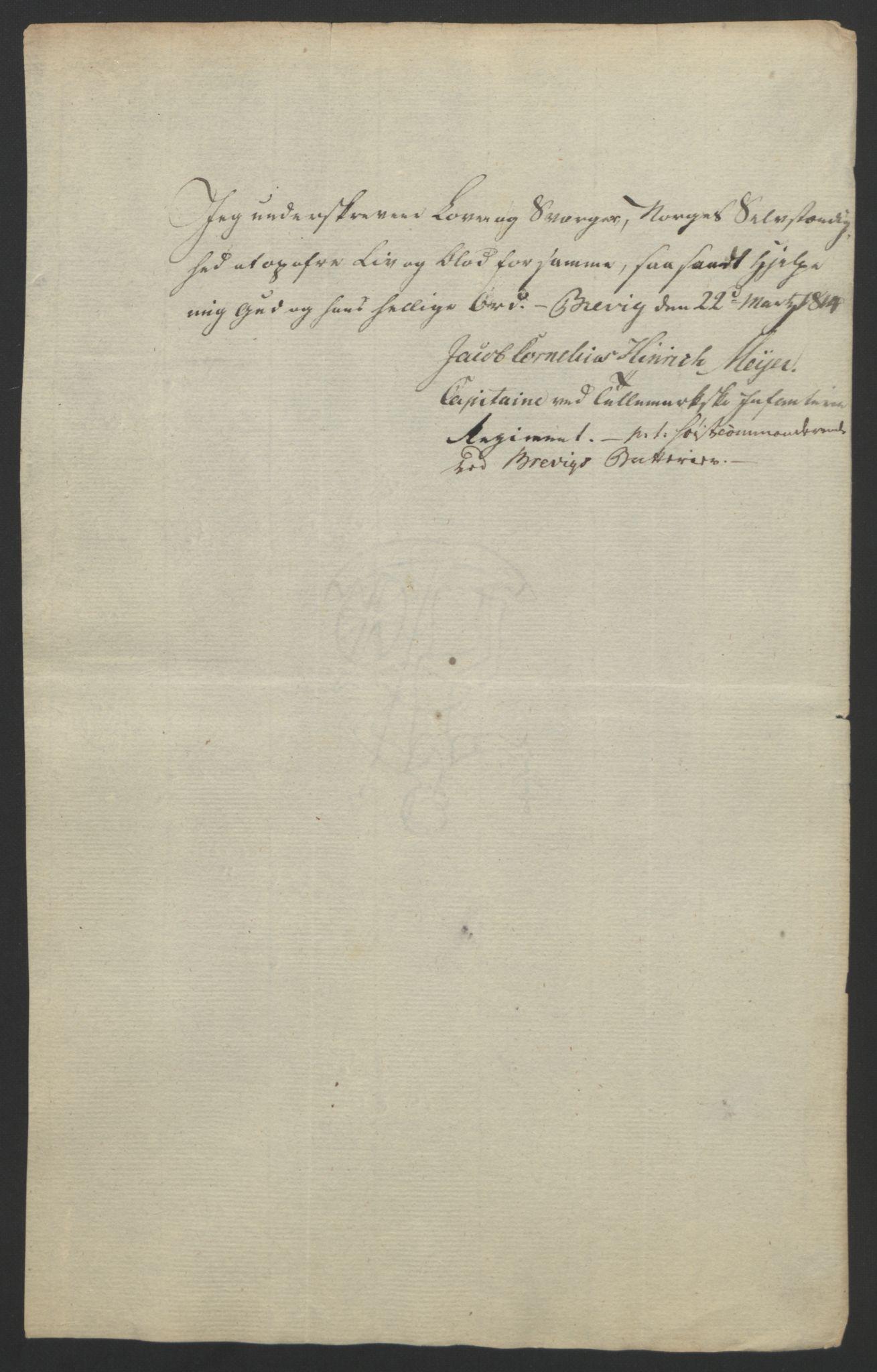 RA, Statsrådssekretariatet, D/Db/L0007: Fullmakter for Eidsvollsrepresentantene i 1814. , 1814, s. 97