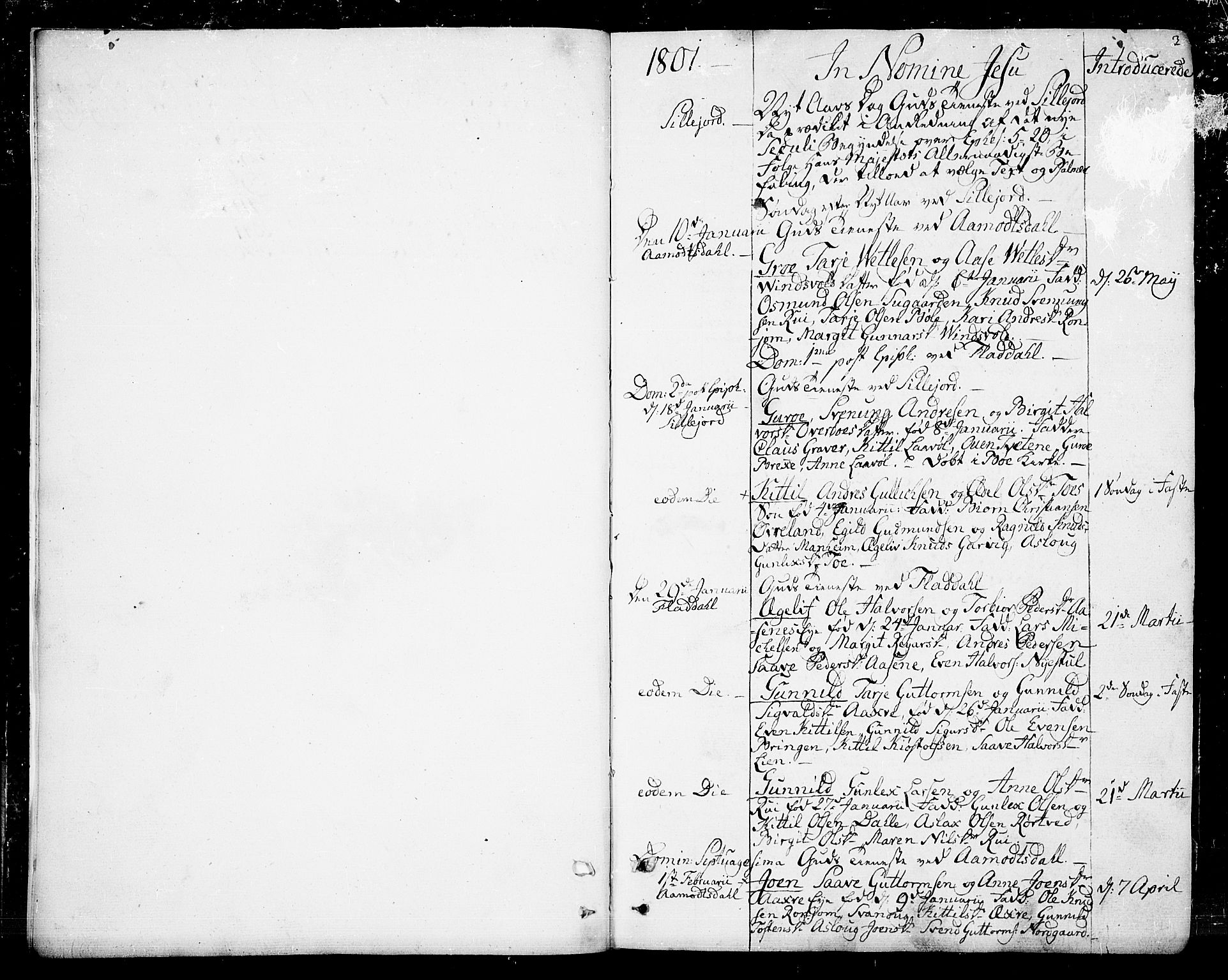 SAKO, Seljord kirkebøker, F/Fa/L0009: Ministerialbok nr. I 9, 1801-1814, s. 3