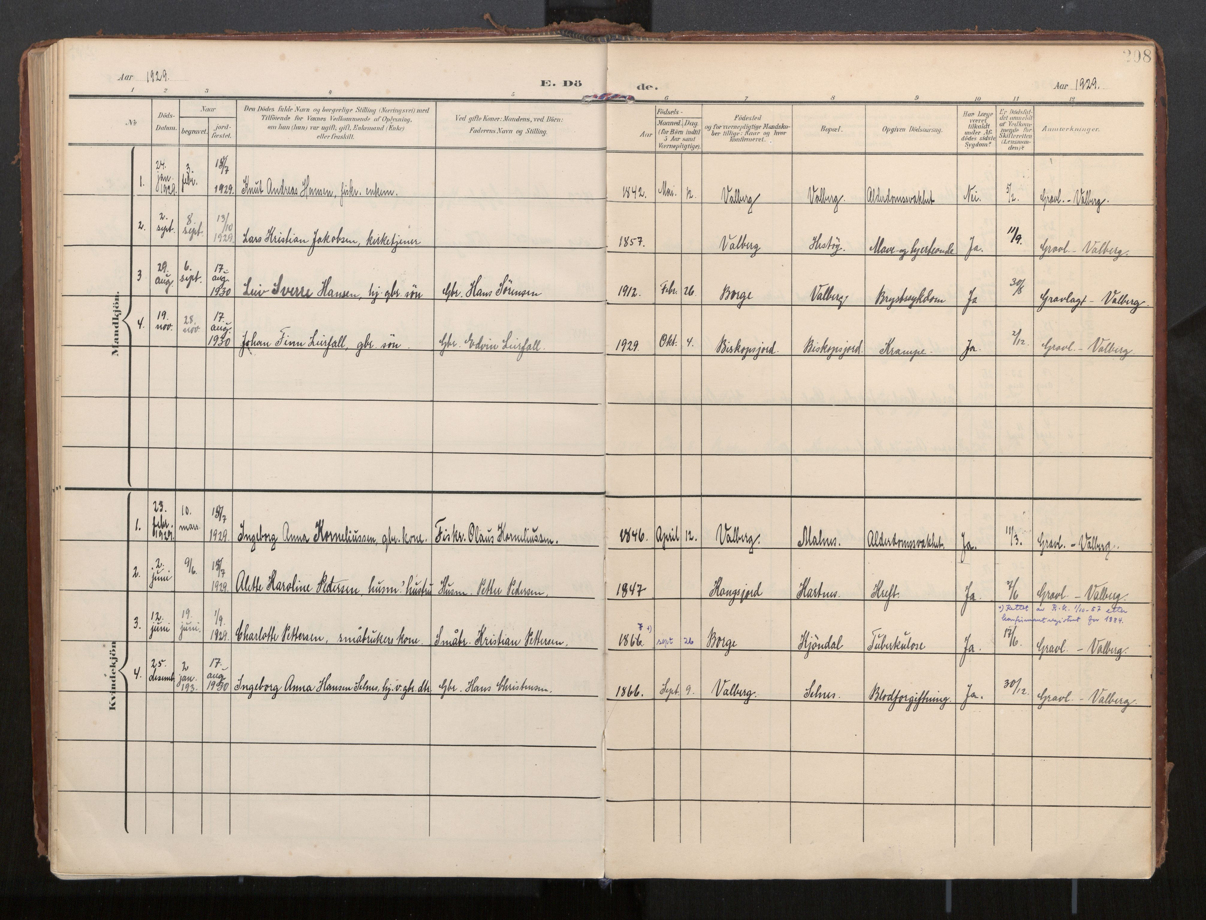 SAT, Ministerialprotokoller, klokkerbøker og fødselsregistre - Nordland, 884/L1194: Ministerialbok nr. 884A02, 1906-1937, s. 208