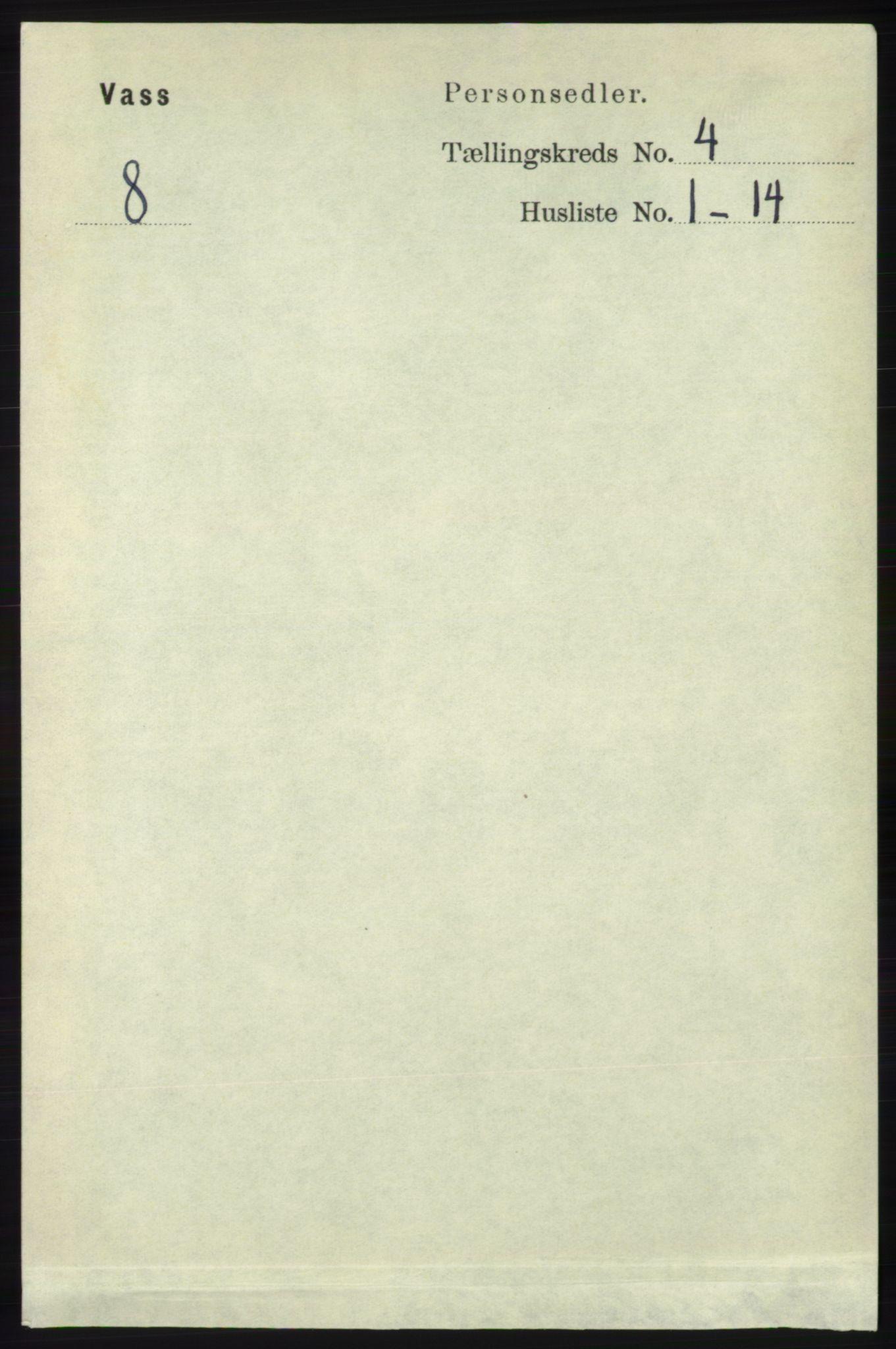 RA, Folketelling 1891 for 1155 Vats herred, 1891, s. 606