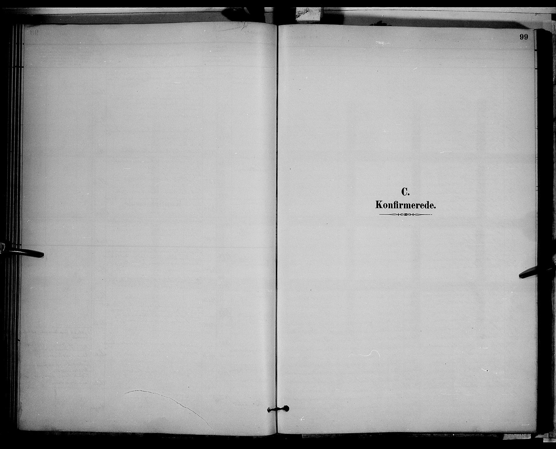 SAH, Gran prestekontor, Klokkerbok nr. 2, 1879-1892, s. 99