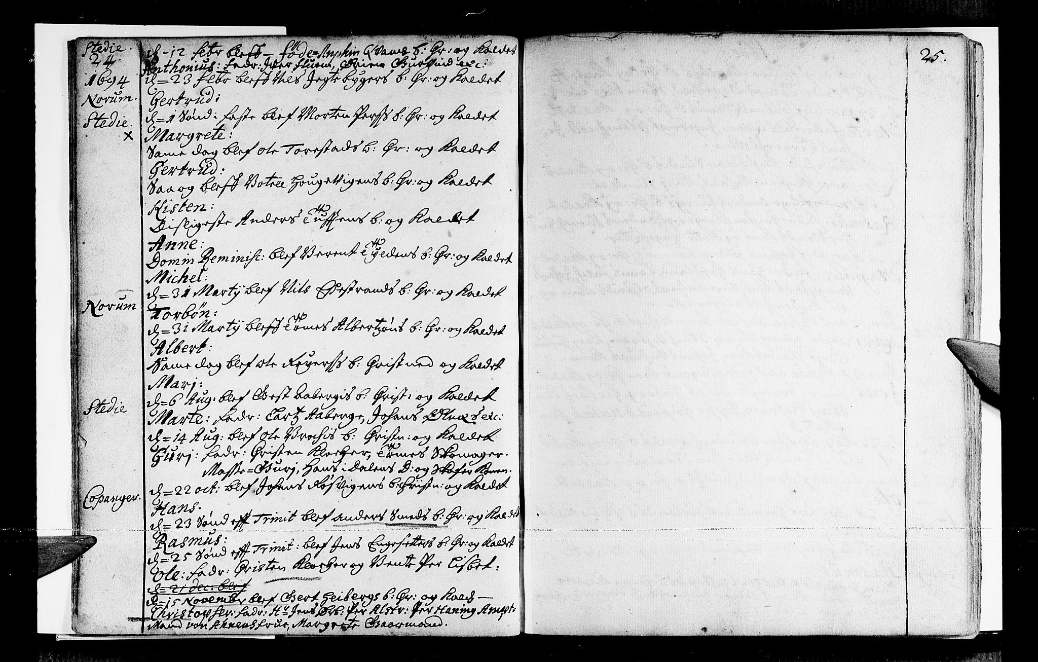 SAB, Sogndal sokneprestembete, H/Haa/Haaa/L0001: Ministerialbok nr. A 1, 1689-1713, s. 24-25