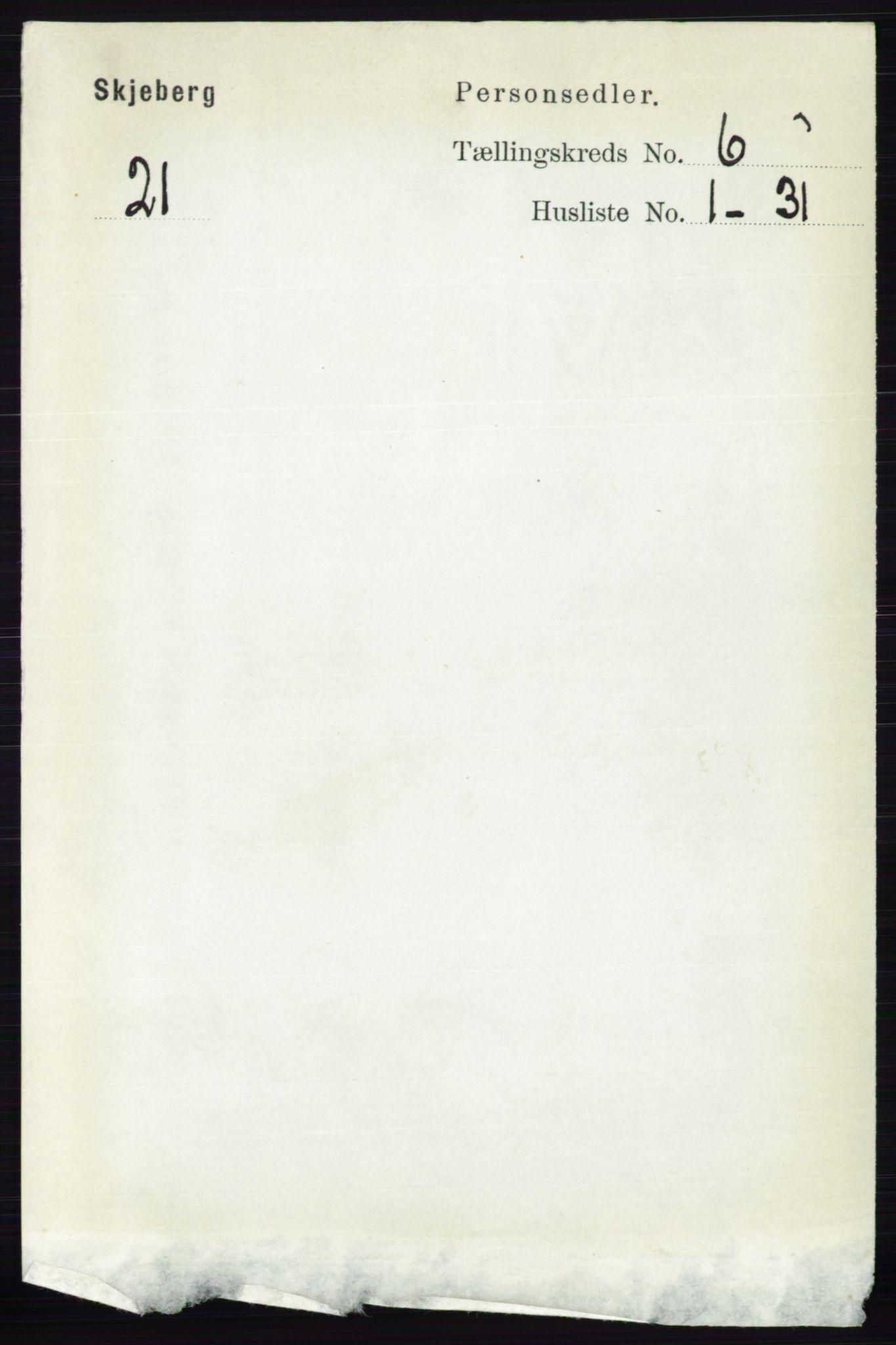 RA, Folketelling 1891 for 0115 Skjeberg herred, 1891, s. 2835