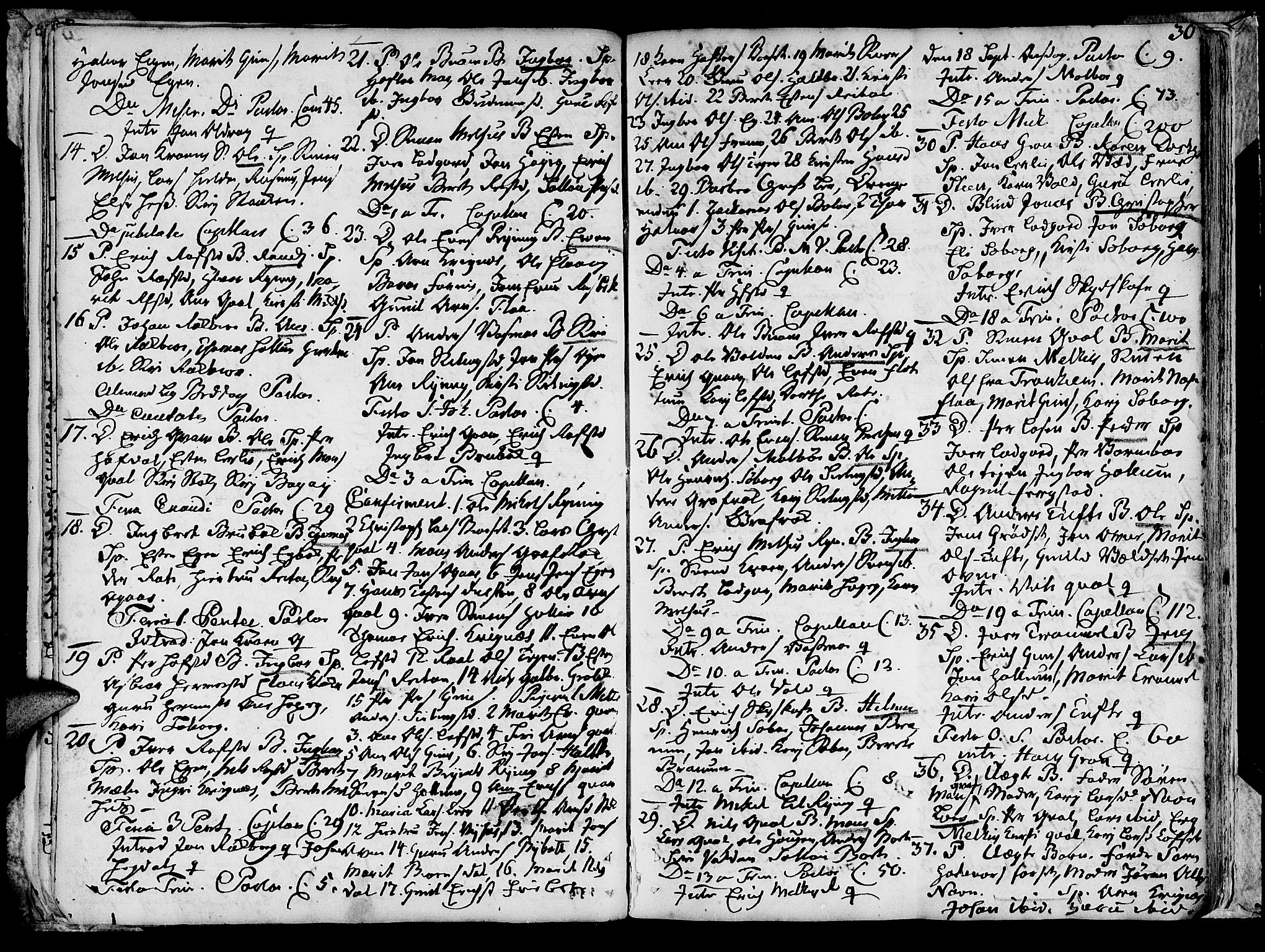 SAT, Ministerialprotokoller, klokkerbøker og fødselsregistre - Sør-Trøndelag, 691/L1057: Ministerialbok nr. 691A01 /1, 1740-1767, s. 30