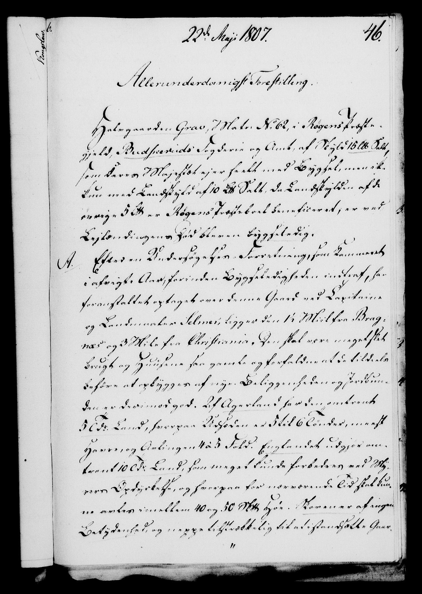 RA, Rentekammeret, Kammerkanselliet, G/Gf/Gfa/L0089: Norsk relasjons- og resolusjonsprotokoll (merket RK 52.89), 1807, s. 321
