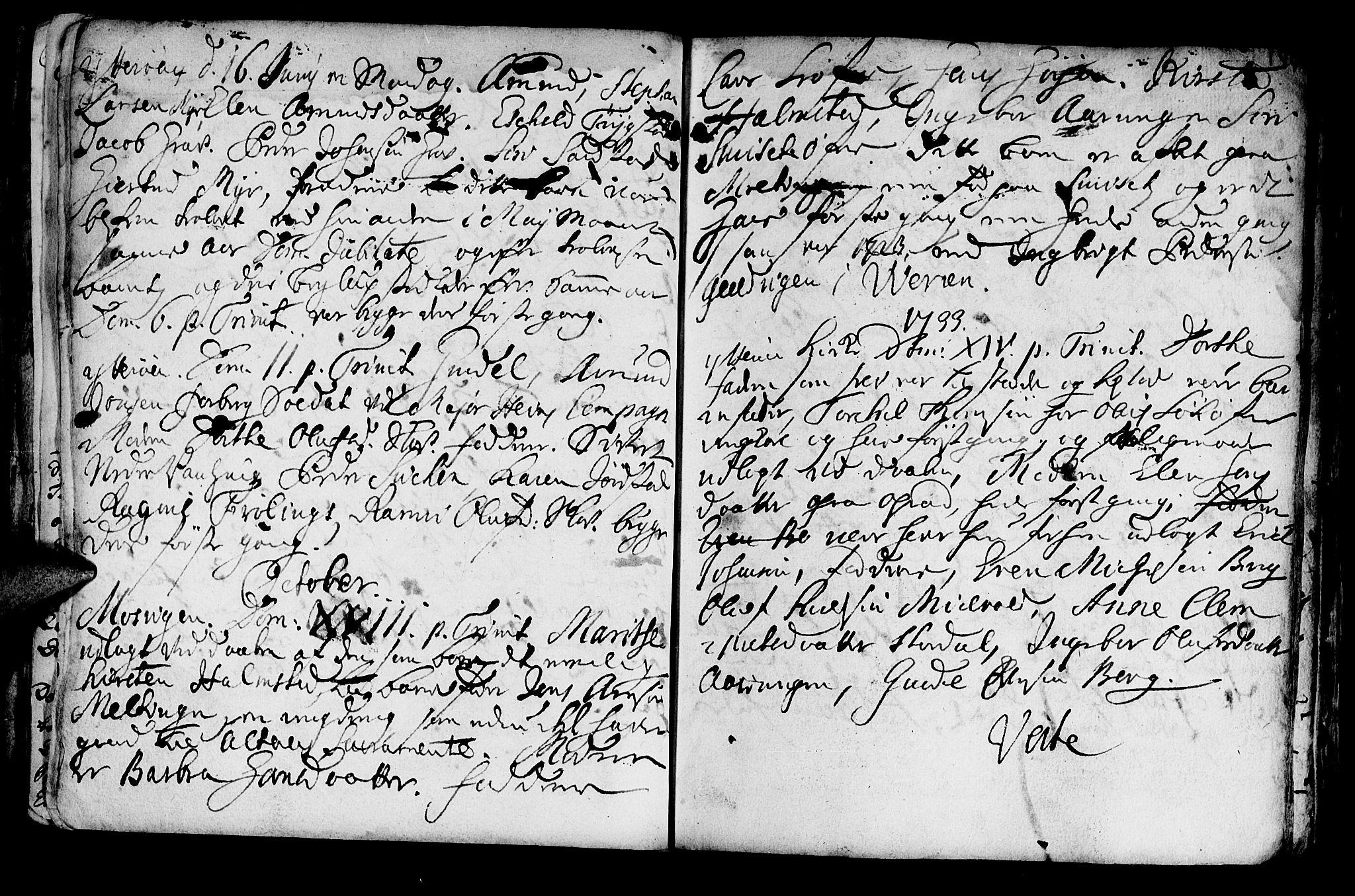 SAT, Ministerialprotokoller, klokkerbøker og fødselsregistre - Nord-Trøndelag, 722/L0215: Ministerialbok nr. 722A02, 1718-1755, s. 144