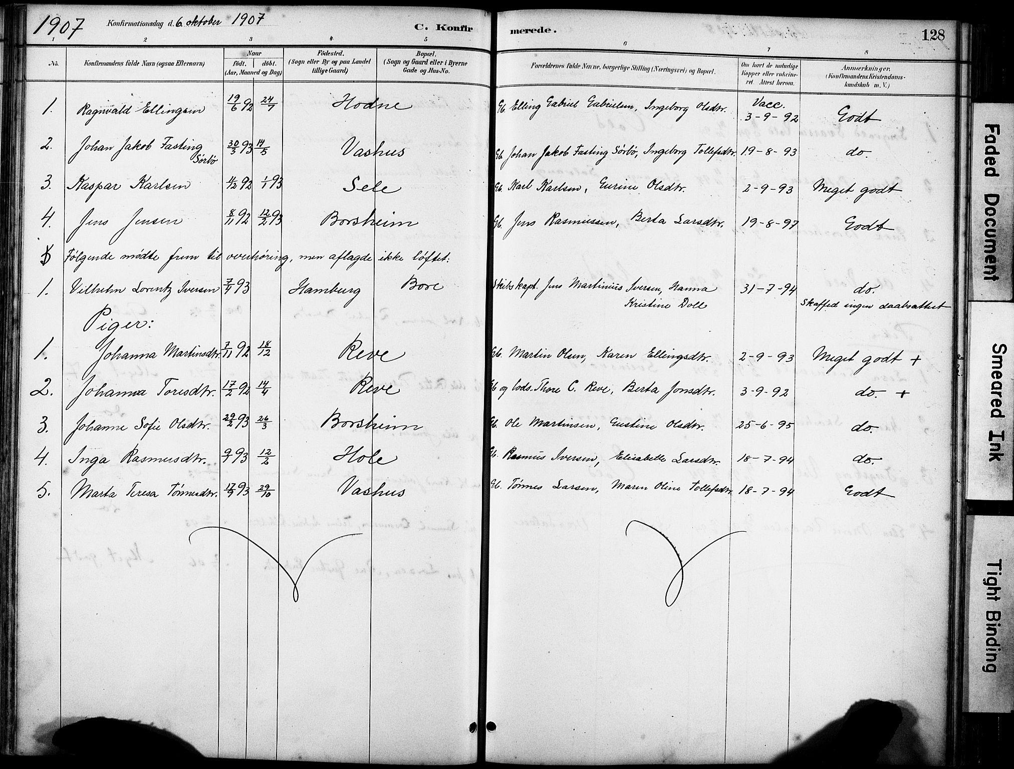 SAST, Klepp sokneprestkontor, 30BA/L0008: Ministerialbok nr. A 9, 1886-1919, s. 128
