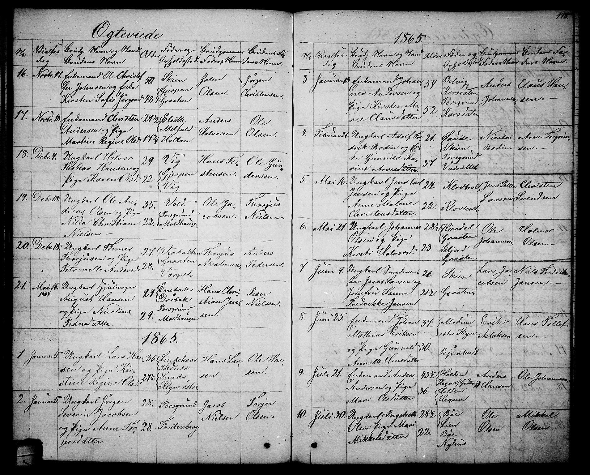 SAKO, Solum kirkebøker, G/Ga/L0004: Klokkerbok nr. I 4, 1859-1876, s. 178