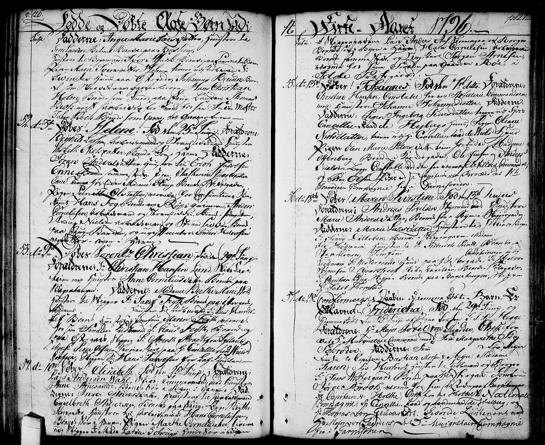 SAO, Halden prestekontor Kirkebøker, F/Fa/L0002: Ministerialbok nr. I 2, 1792-1812, s. 126-127